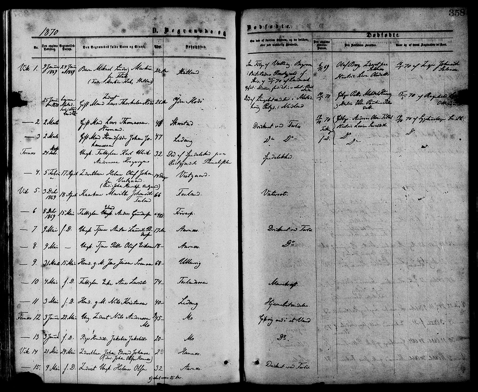 SAT, Ministerialprotokoller, klokkerbøker og fødselsregistre - Nord-Trøndelag, 773/L0616: Ministerialbok nr. 773A07, 1870-1887, s. 358