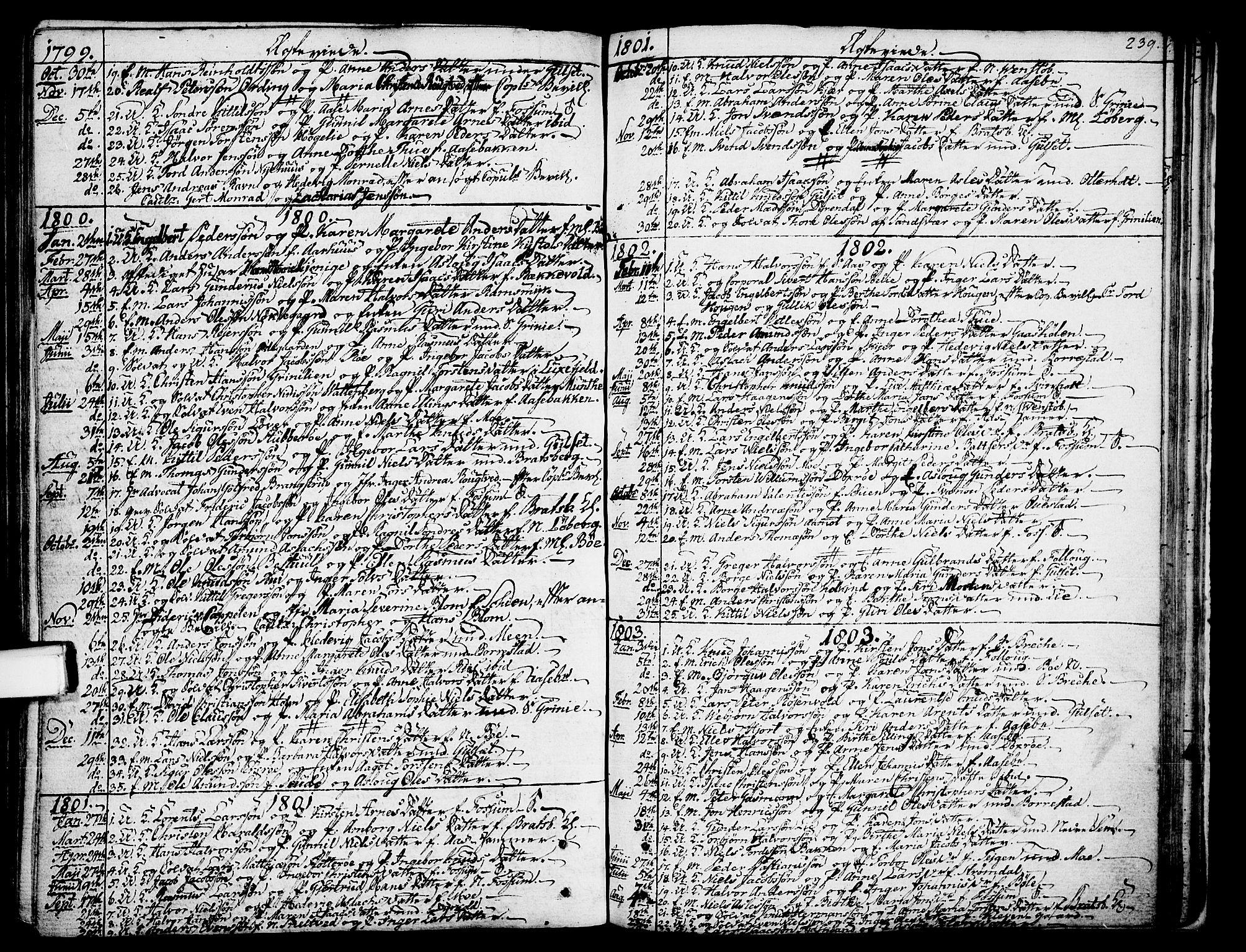 SAKO, Gjerpen kirkebøker, F/Fa/L0003: Ministerialbok nr. 3, 1796-1814, s. 239