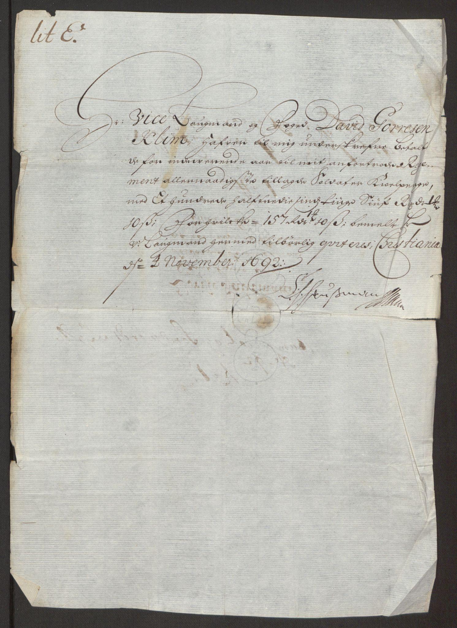 RA, Rentekammeret inntil 1814, Reviderte regnskaper, Fogderegnskap, R24/L1575: Fogderegnskap Numedal og Sandsvær, 1692-1695, s. 414