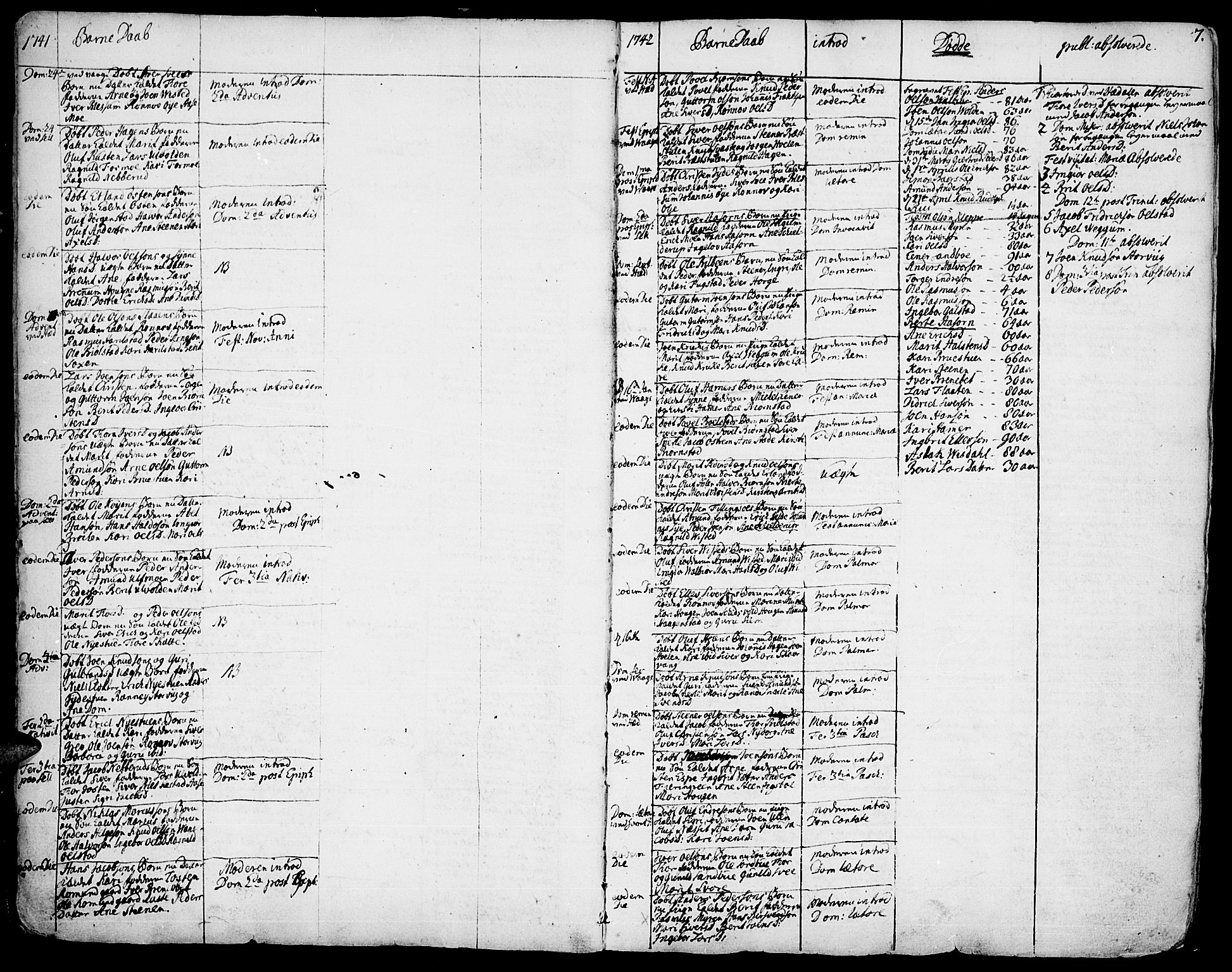 SAH, Vågå prestekontor, Ministerialbok nr. 1, 1739-1810, s. 7