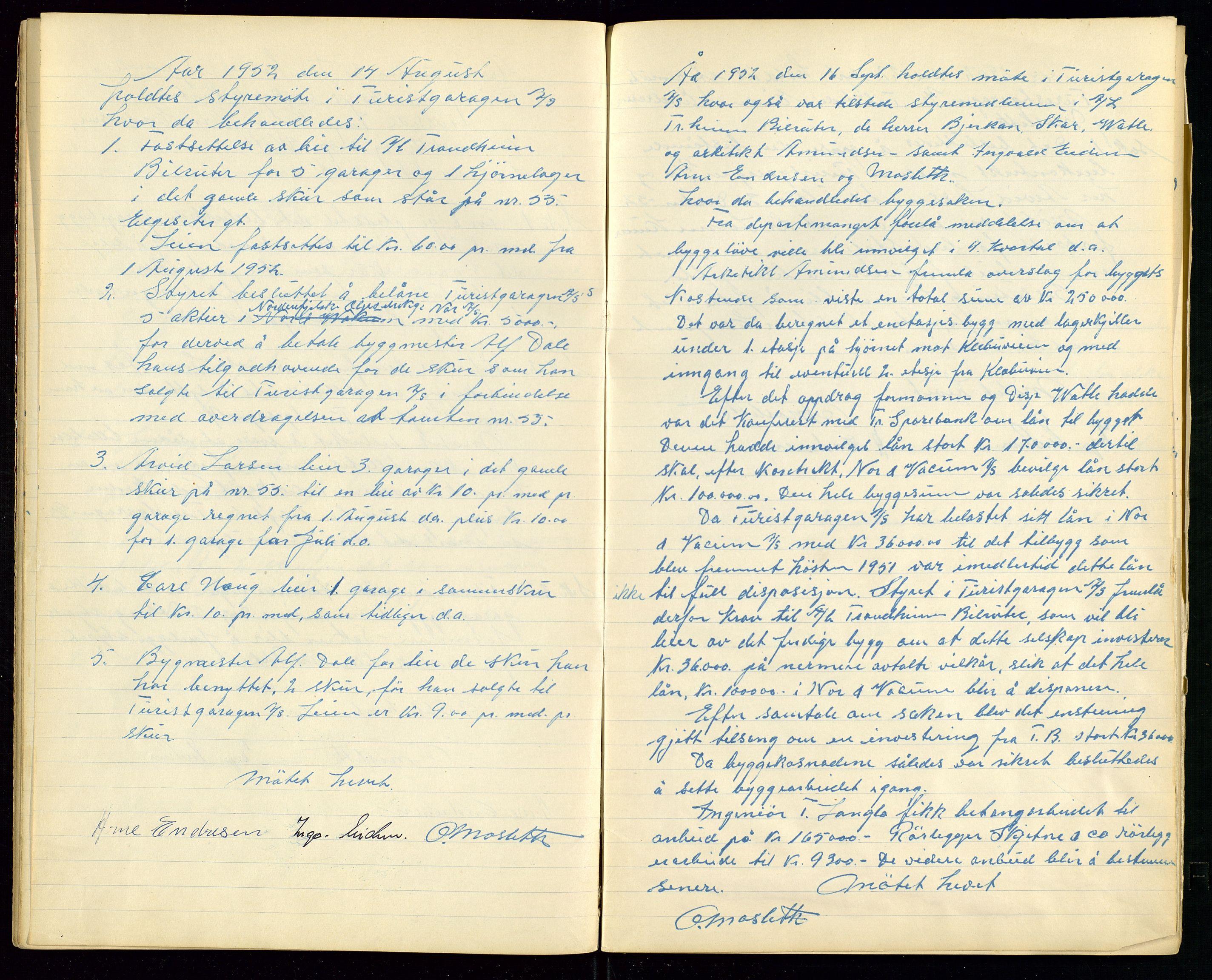 SAST, PA 1515 - Turistgarasjen A/S, A/L0001: Forhandlingsprotokoll, 1937-1958, s. 28