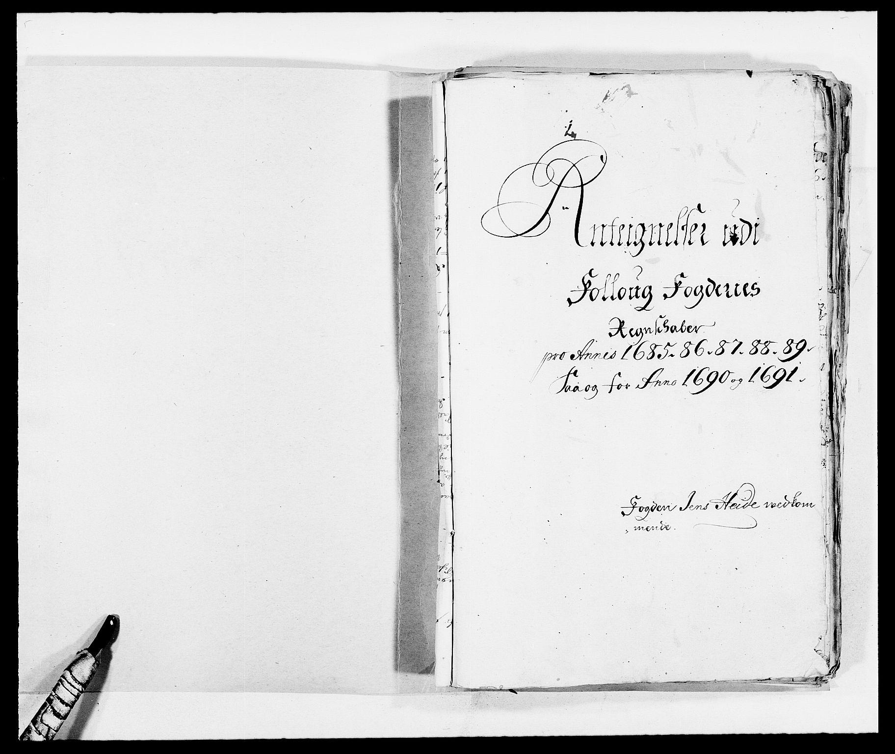 RA, Rentekammeret inntil 1814, Reviderte regnskaper, Fogderegnskap, R09/L0436: Fogderegnskap Follo, 1685-1691, s. 274