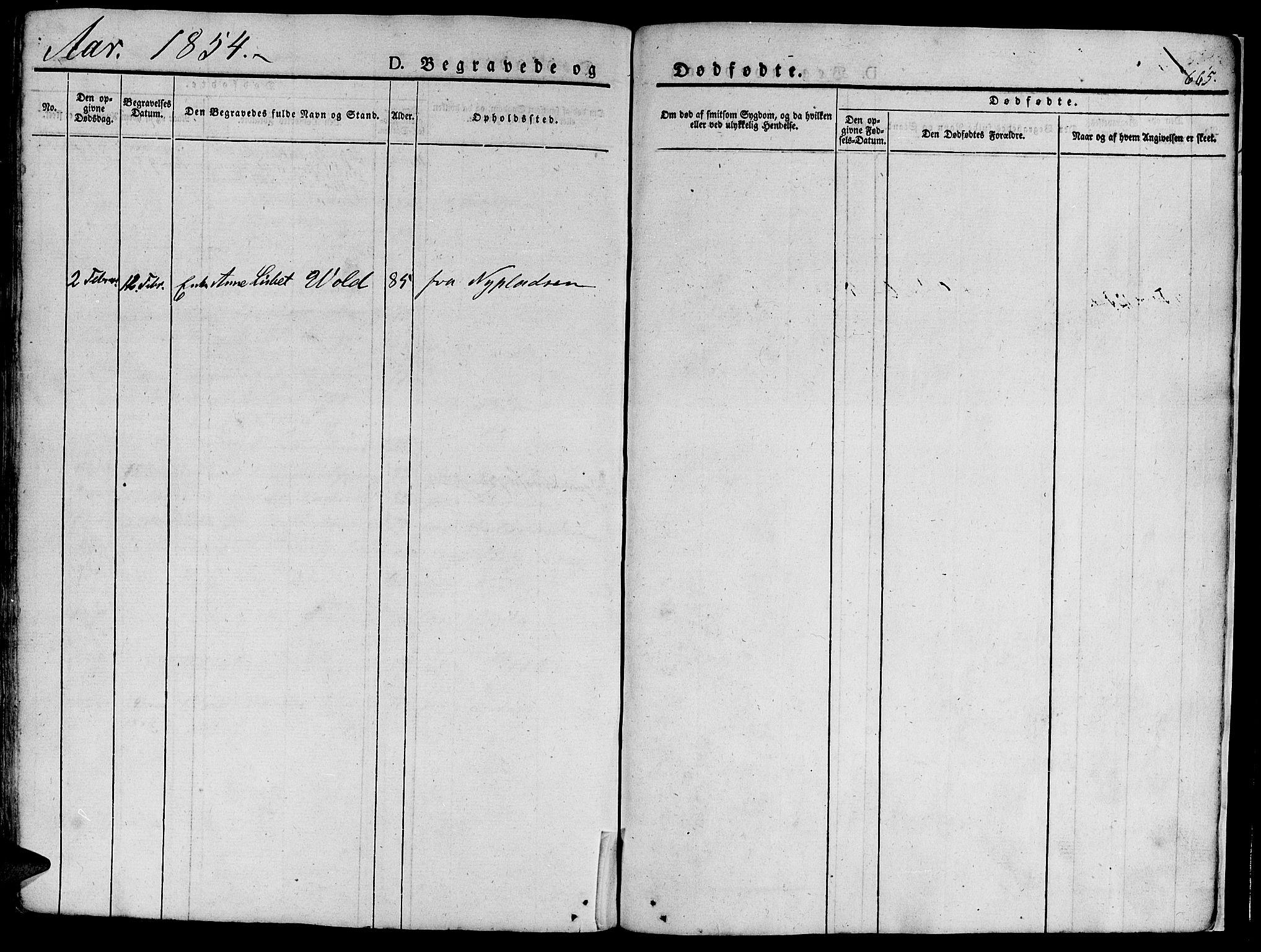 SAT, Ministerialprotokoller, klokkerbøker og fødselsregistre - Sør-Trøndelag, 681/L0939: Klokkerbok nr. 681C03, 1829-1855, s. 665