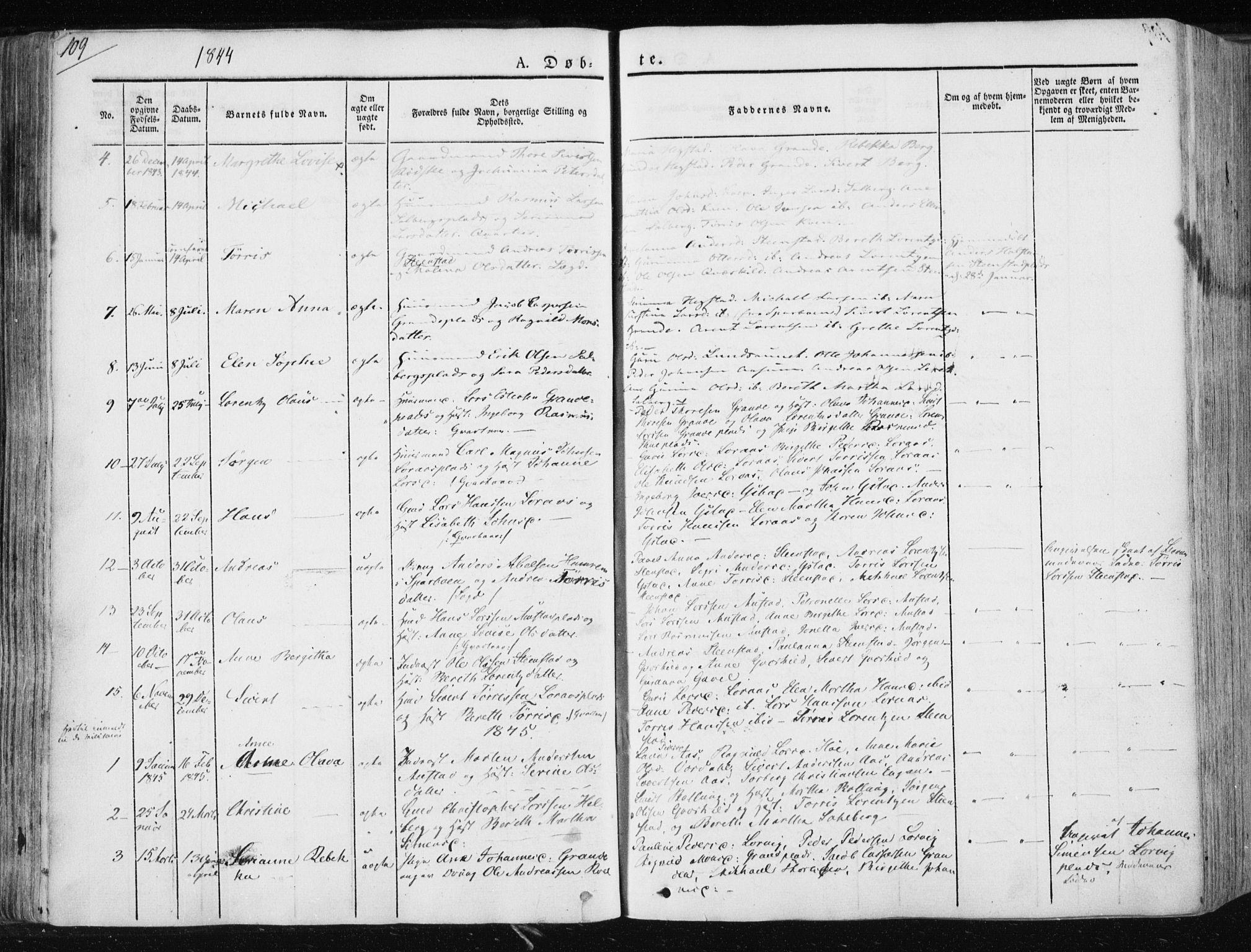 SAT, Ministerialprotokoller, klokkerbøker og fødselsregistre - Nord-Trøndelag, 730/L0280: Ministerialbok nr. 730A07 /2, 1840-1854, s. 109