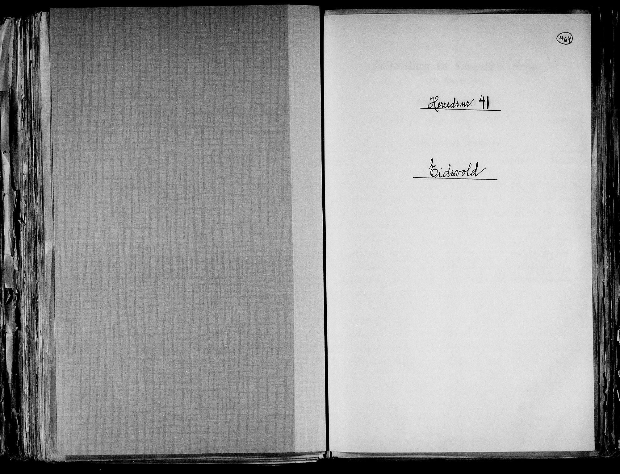 RA, Folketelling 1891 for 0237 Eidsvoll herred, 1891, s. 1