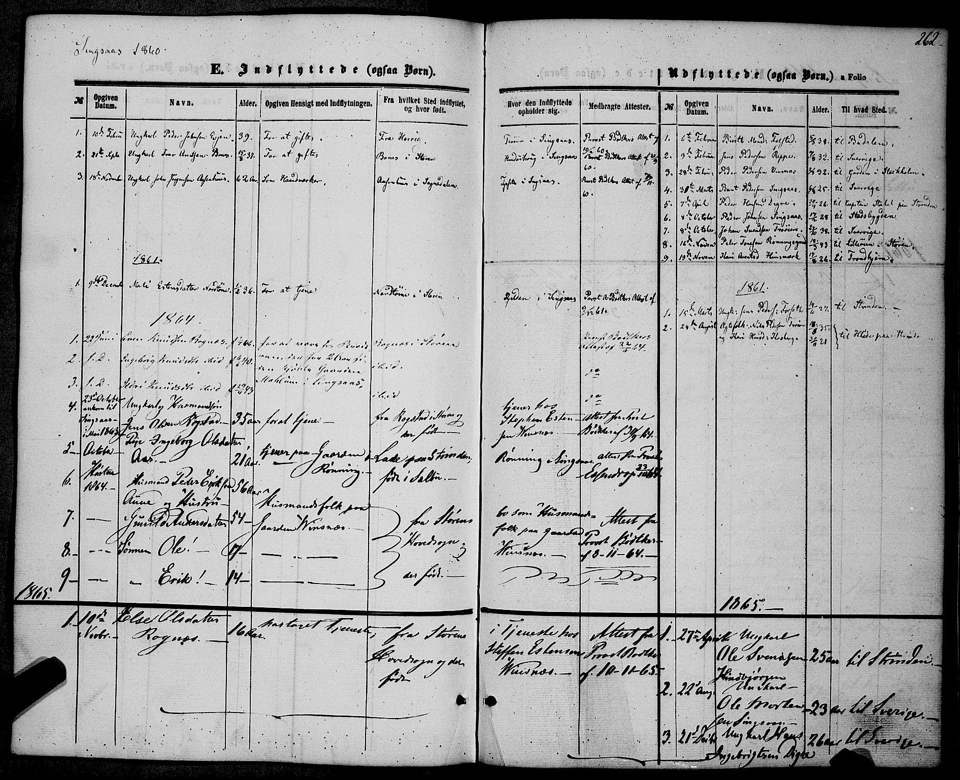 SAT, Ministerialprotokoller, klokkerbøker og fødselsregistre - Sør-Trøndelag, 685/L0967: Ministerialbok nr. 685A07 /2, 1860-1869, s. 262