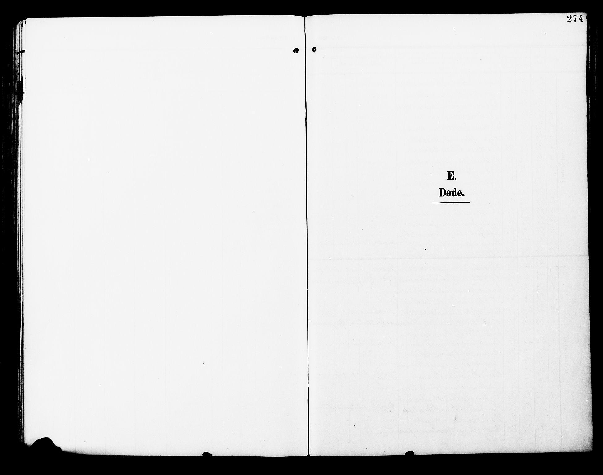 SAT, Ministerialprotokoller, klokkerbøker og fødselsregistre - Nord-Trøndelag, 723/L0258: Klokkerbok nr. 723C06, 1908-1927, s. 274