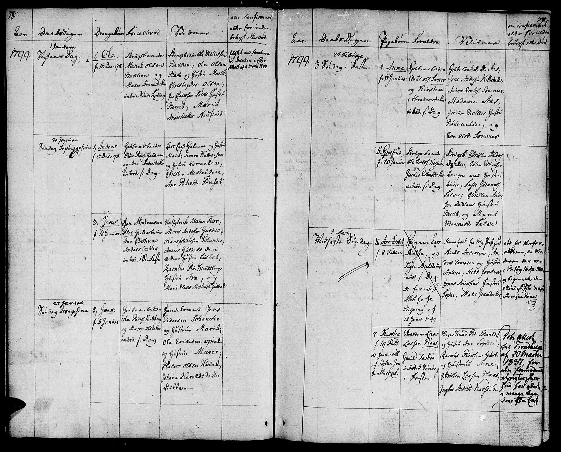 SAT, Ministerialprotokoller, klokkerbøker og fødselsregistre - Sør-Trøndelag, 681/L0927: Ministerialbok nr. 681A05, 1798-1808, s. 78-79