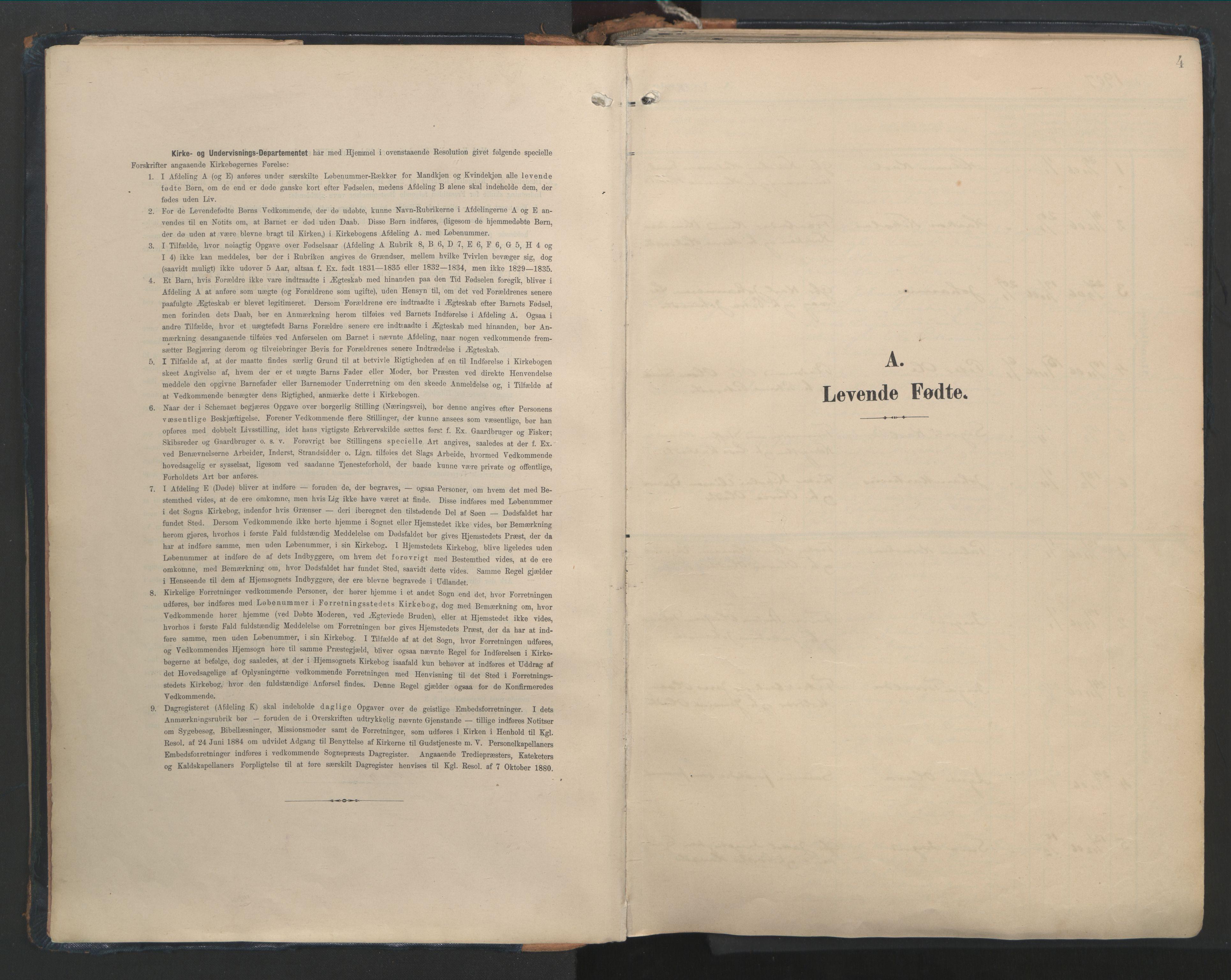 SAT, Ministerialprotokoller, klokkerbøker og fødselsregistre - Møre og Romsdal, 528/L0411: Ministerialbok nr. 528A20, 1907-1920, s. 4