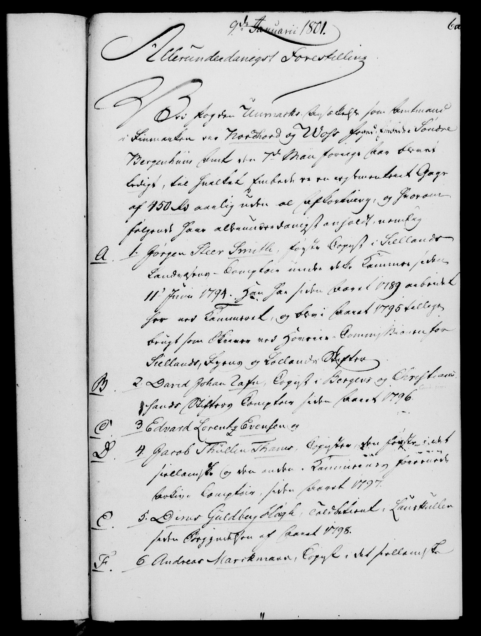 RA, Rentekammeret, Kammerkanselliet, G/Gf/Gfa/L0083: Norsk relasjons- og resolusjonsprotokoll (merket RK 52.83), 1801, s. 57