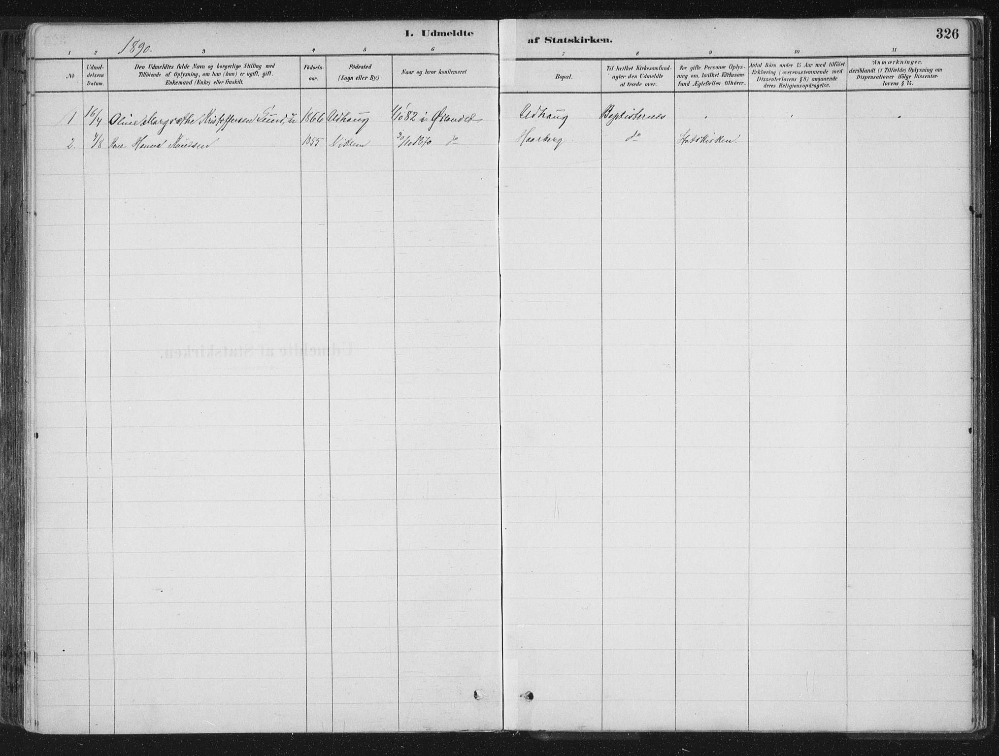 SAT, Ministerialprotokoller, klokkerbøker og fødselsregistre - Sør-Trøndelag, 659/L0739: Ministerialbok nr. 659A09, 1879-1893, s. 326