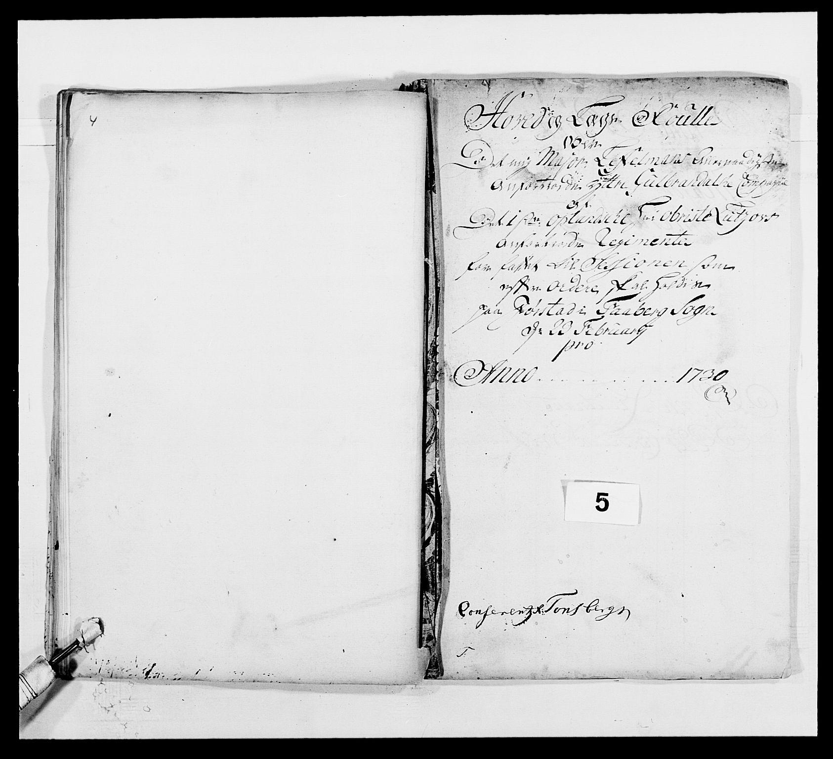 RA, Kommanderende general (KG I) med Det norske krigsdirektorium, E/Ea/L0502: 1. Opplandske regiment, 1720-1743, s. 62