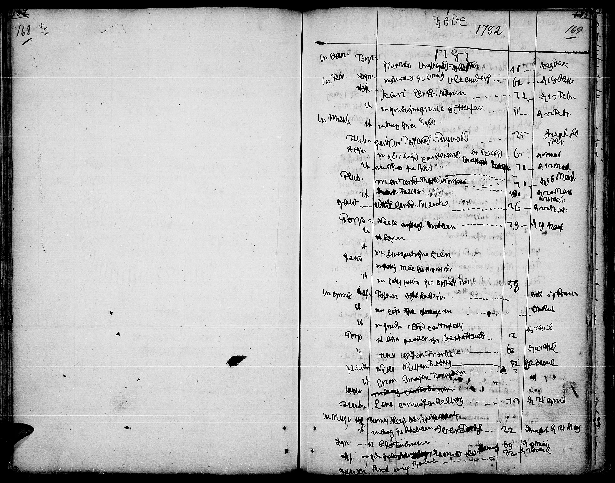 SAH, Land prestekontor, Ministerialbok nr. 5, 1765-1784, s. 168-169