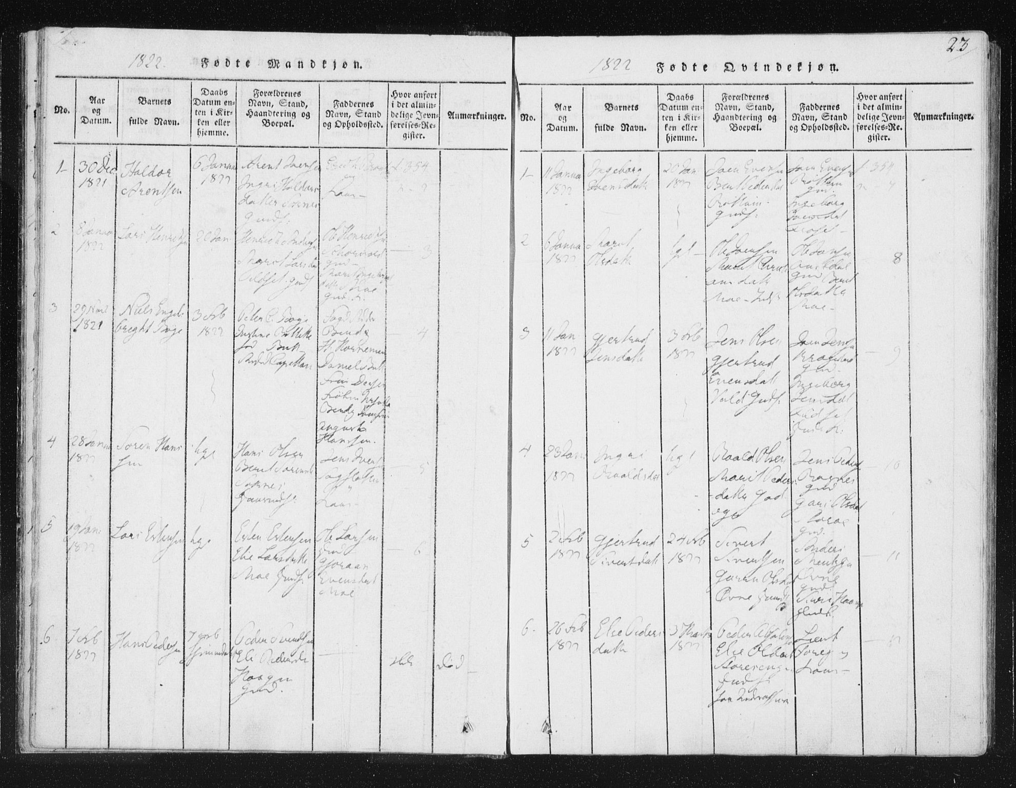 SAT, Ministerialprotokoller, klokkerbøker og fødselsregistre - Sør-Trøndelag, 687/L0996: Ministerialbok nr. 687A04, 1816-1842, s. 23