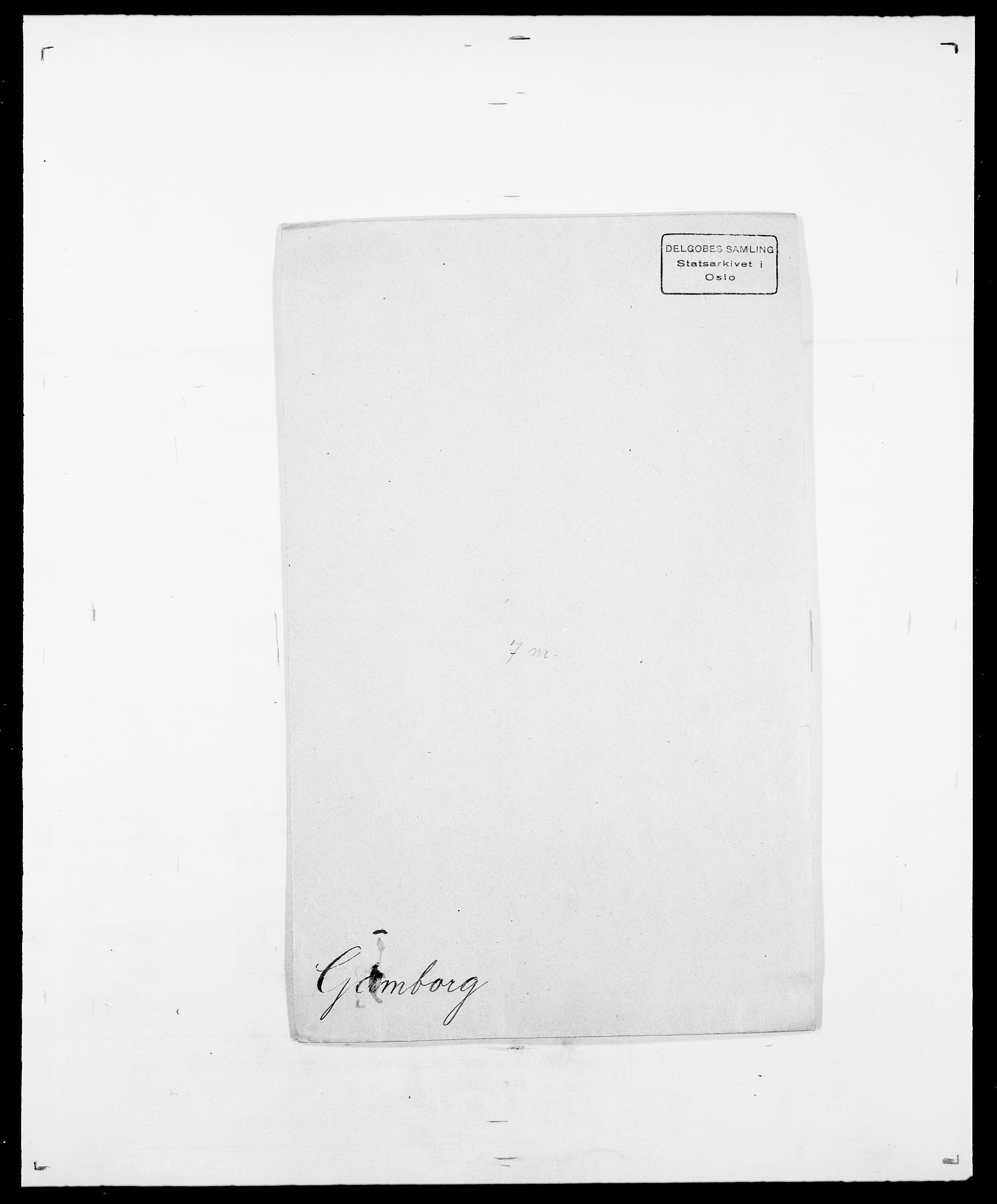 SAO, Delgobe, Charles Antoine - samling, D/Da/L0013: Forbos - Geving, s. 449