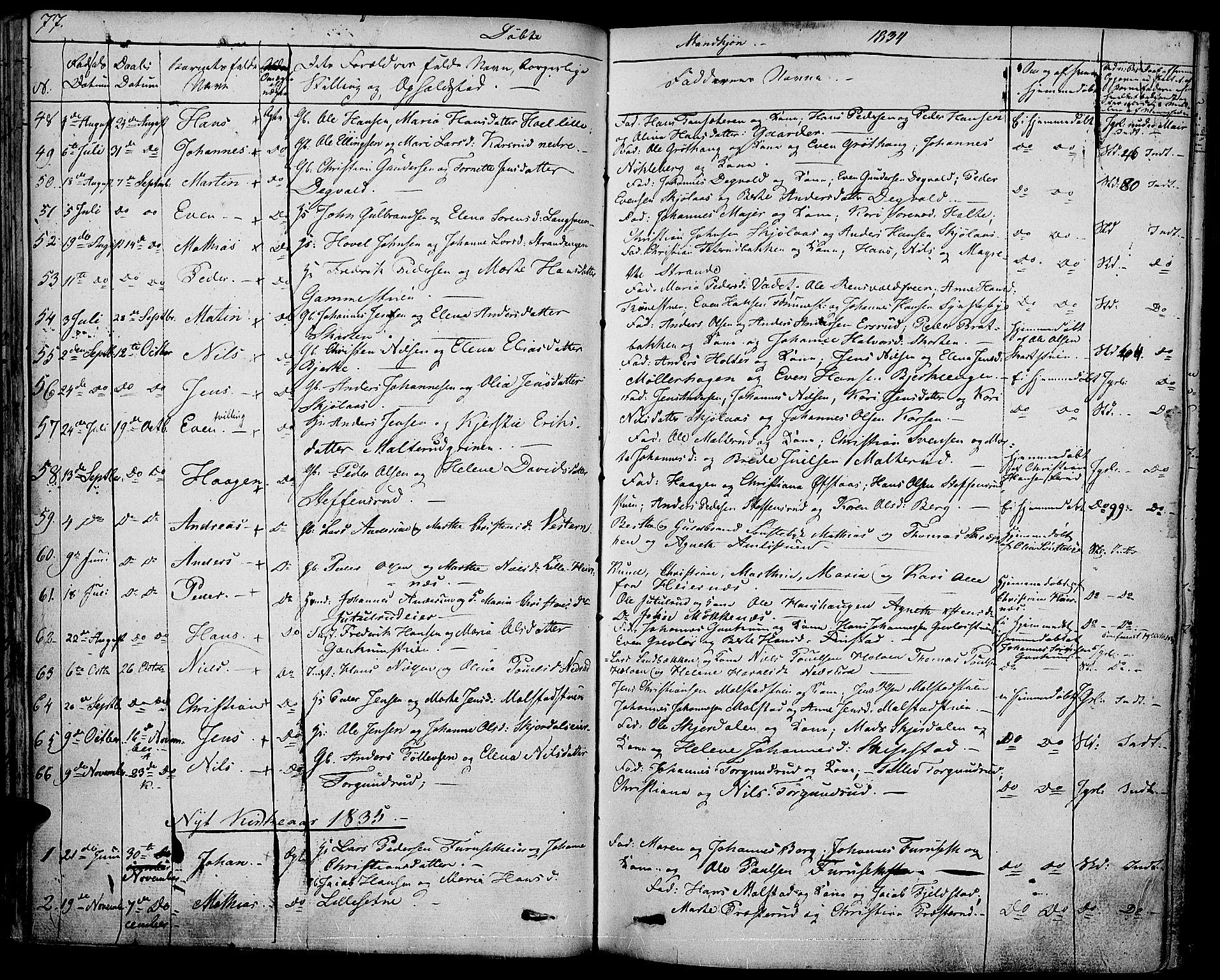 SAH, Vestre Toten prestekontor, Ministerialbok nr. 2, 1825-1837, s. 77