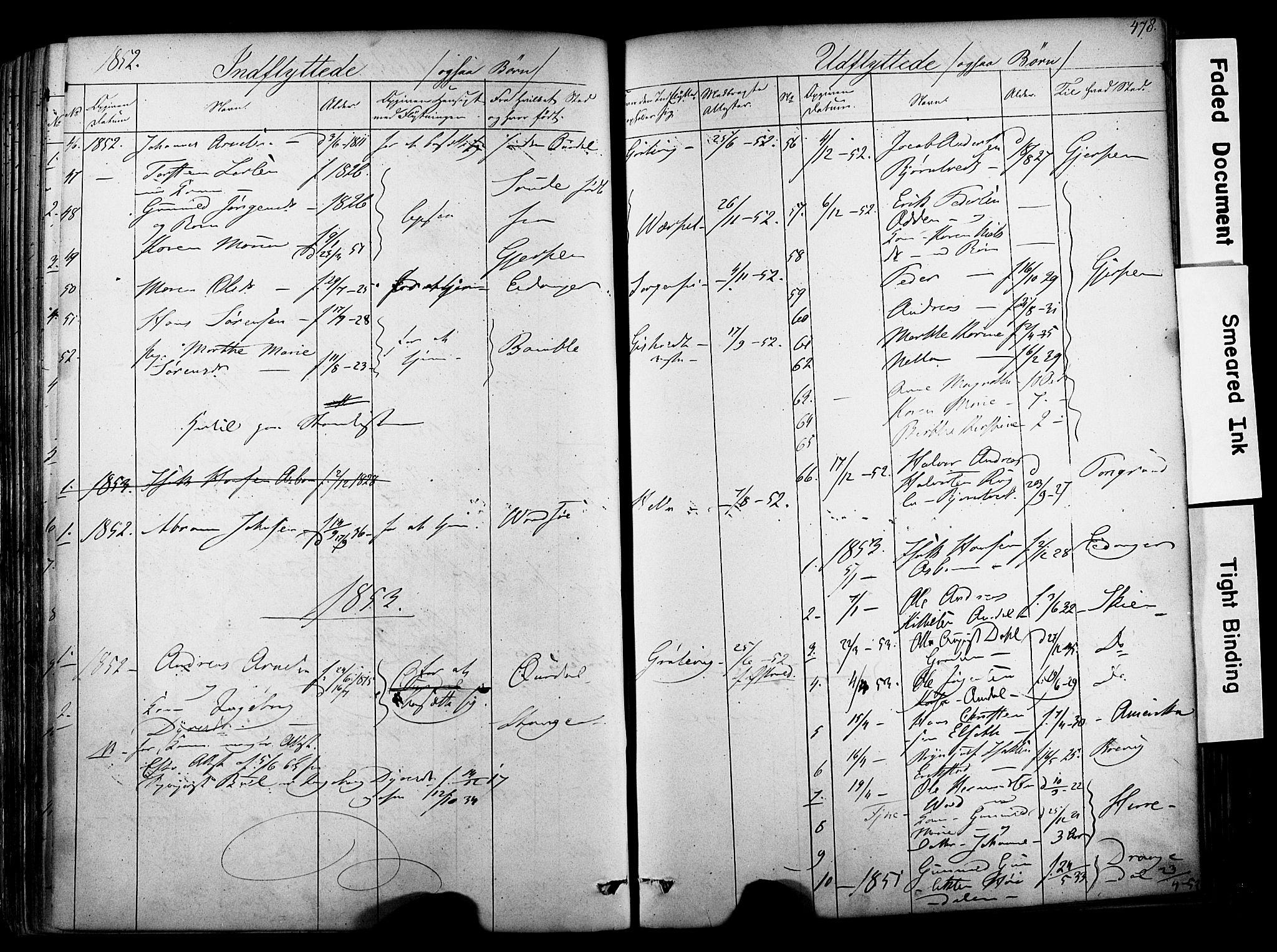 SAKO, Solum kirkebøker, F/Fa/L0006: Ministerialbok nr. I 6, 1844-1855, s. 478