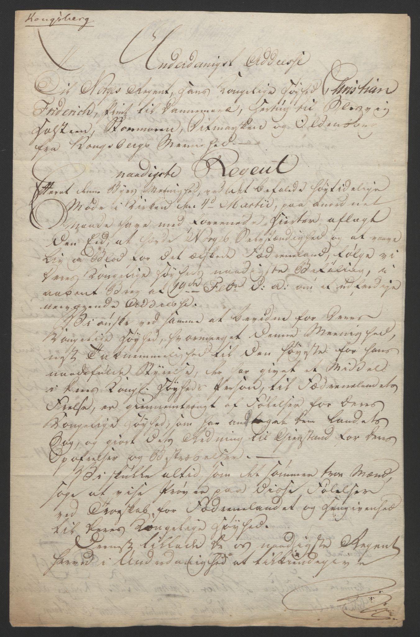 RA, Statsrådssekretariatet, D/Db/L0007: Fullmakter for Eidsvollsrepresentantene i 1814. , 1814, s. 20