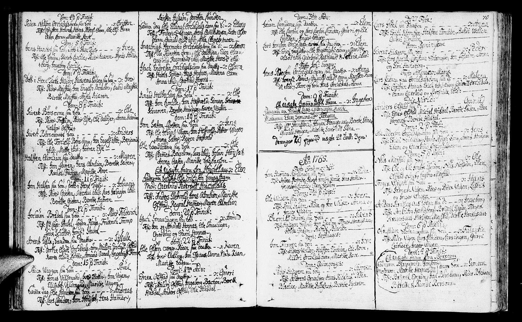 SAT, Ministerialprotokoller, klokkerbøker og fødselsregistre - Sør-Trøndelag, 665/L0768: Ministerialbok nr. 665A03, 1754-1803, s. 70