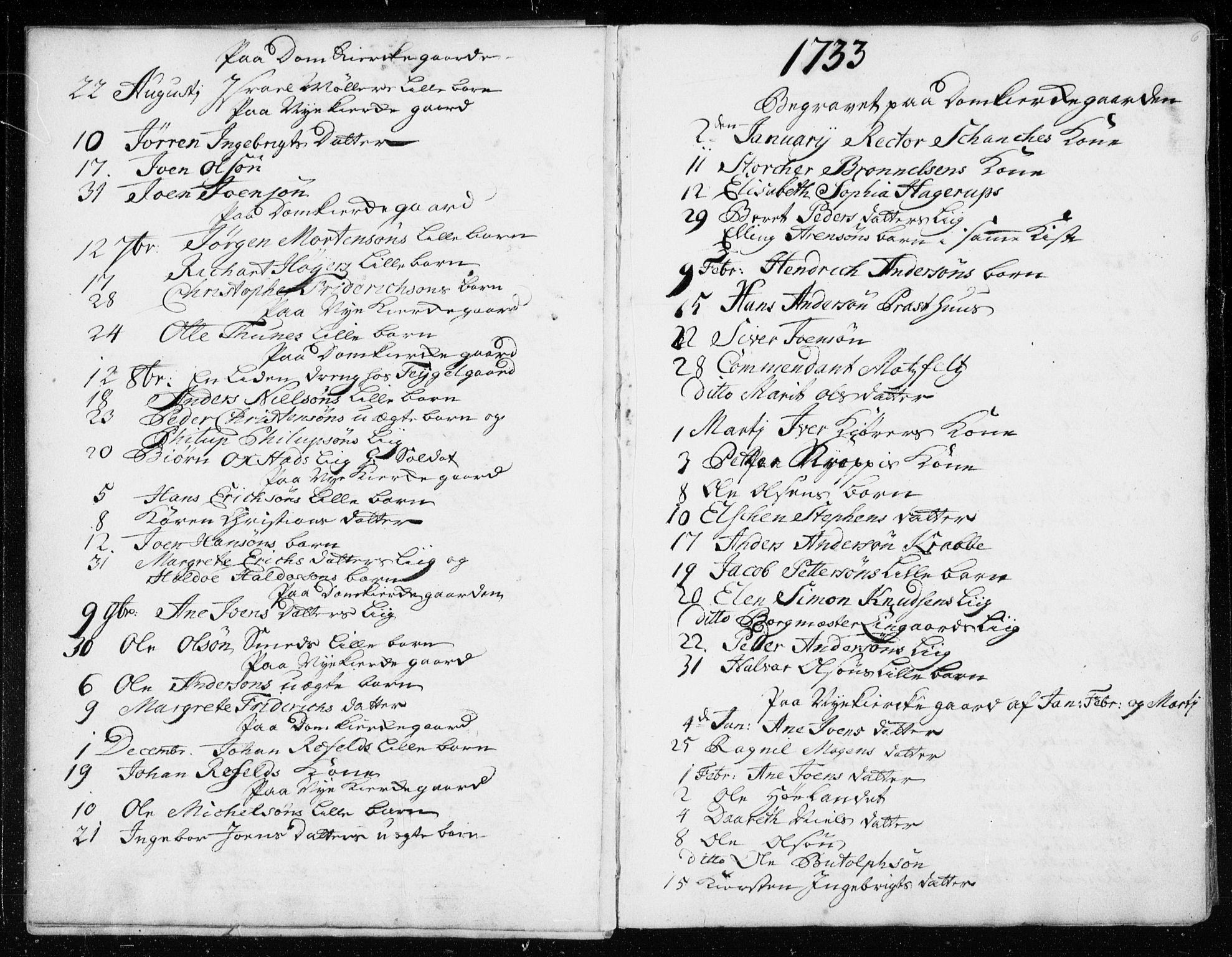 SAT, Ministerialprotokoller, klokkerbøker og fødselsregistre - Sør-Trøndelag, 601/L0037: Ministerialbok nr. 601A05, 1729-1761, s. 6