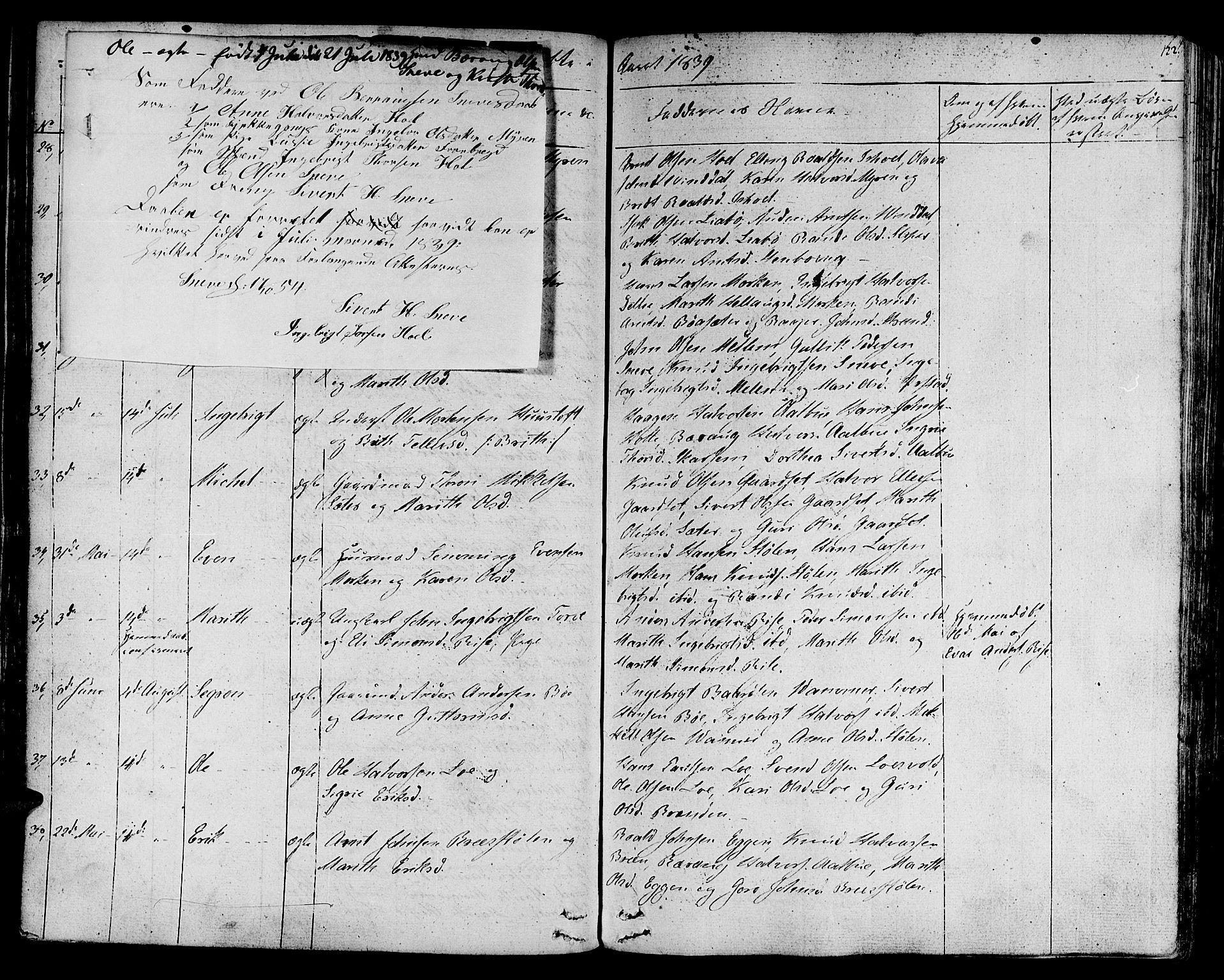 SAT, Ministerialprotokoller, klokkerbøker og fødselsregistre - Sør-Trøndelag, 678/L0897: Ministerialbok nr. 678A06-07, 1821-1847, s. 122