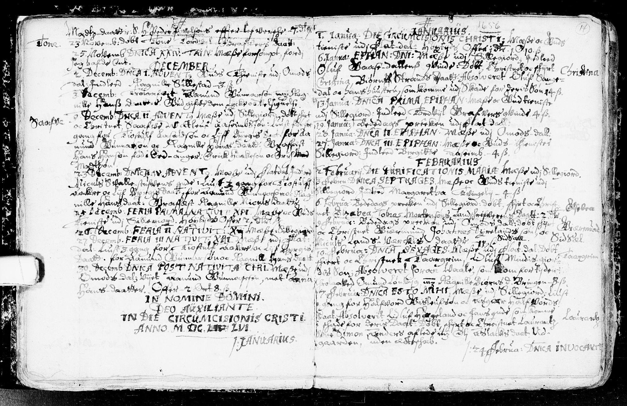 SAKO, Seljord kirkebøker, F/Fa/L0001: Ministerialbok nr. I 1, 1654-1686, s. 14