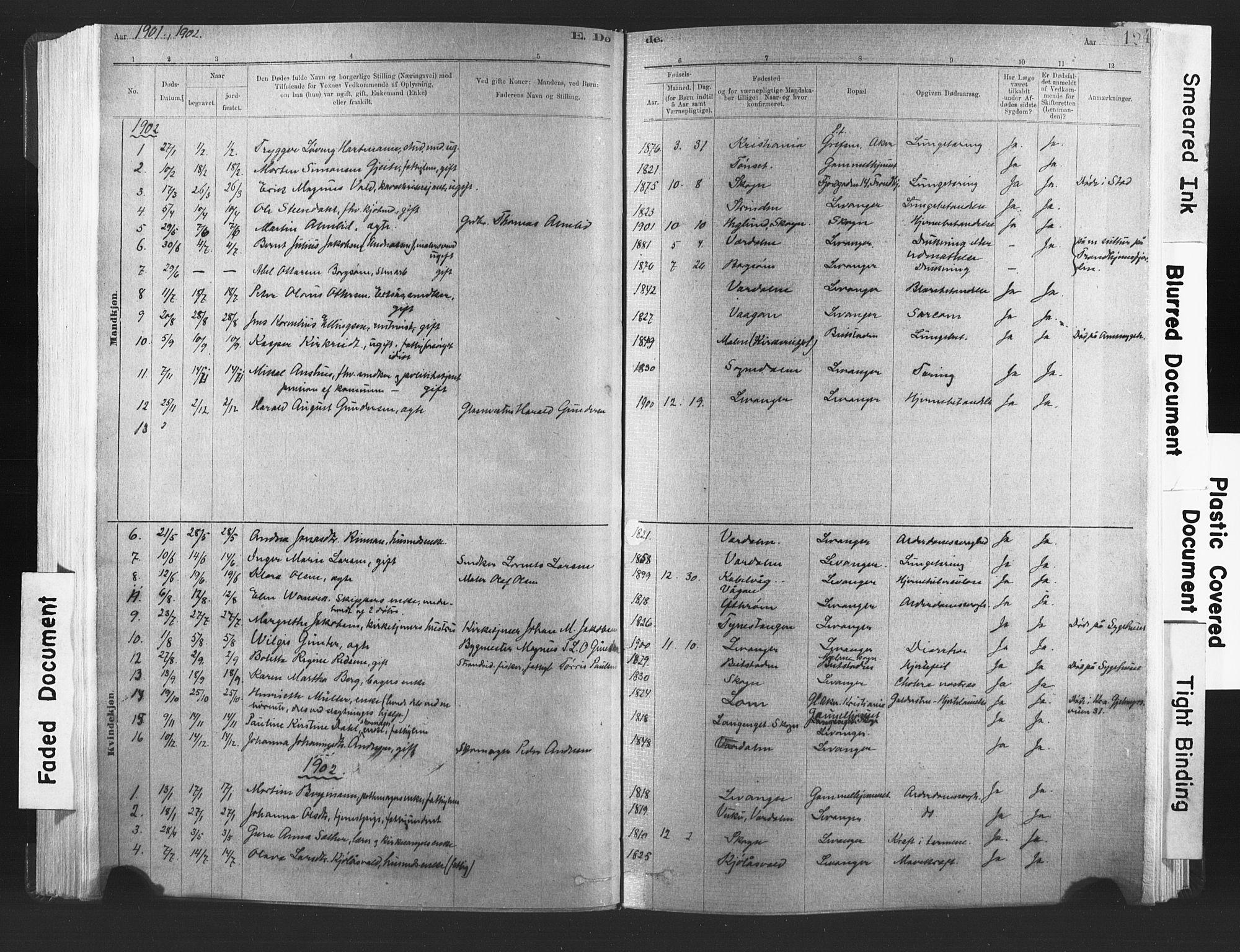 SAT, Ministerialprotokoller, klokkerbøker og fødselsregistre - Nord-Trøndelag, 720/L0189: Ministerialbok nr. 720A05, 1880-1911, s. 124