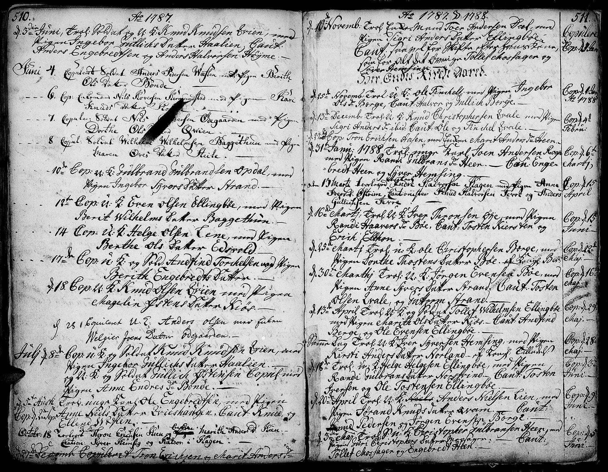 SAH, Vang prestekontor, Valdres, Ministerialbok nr. 1, 1730-1796, s. 510-511