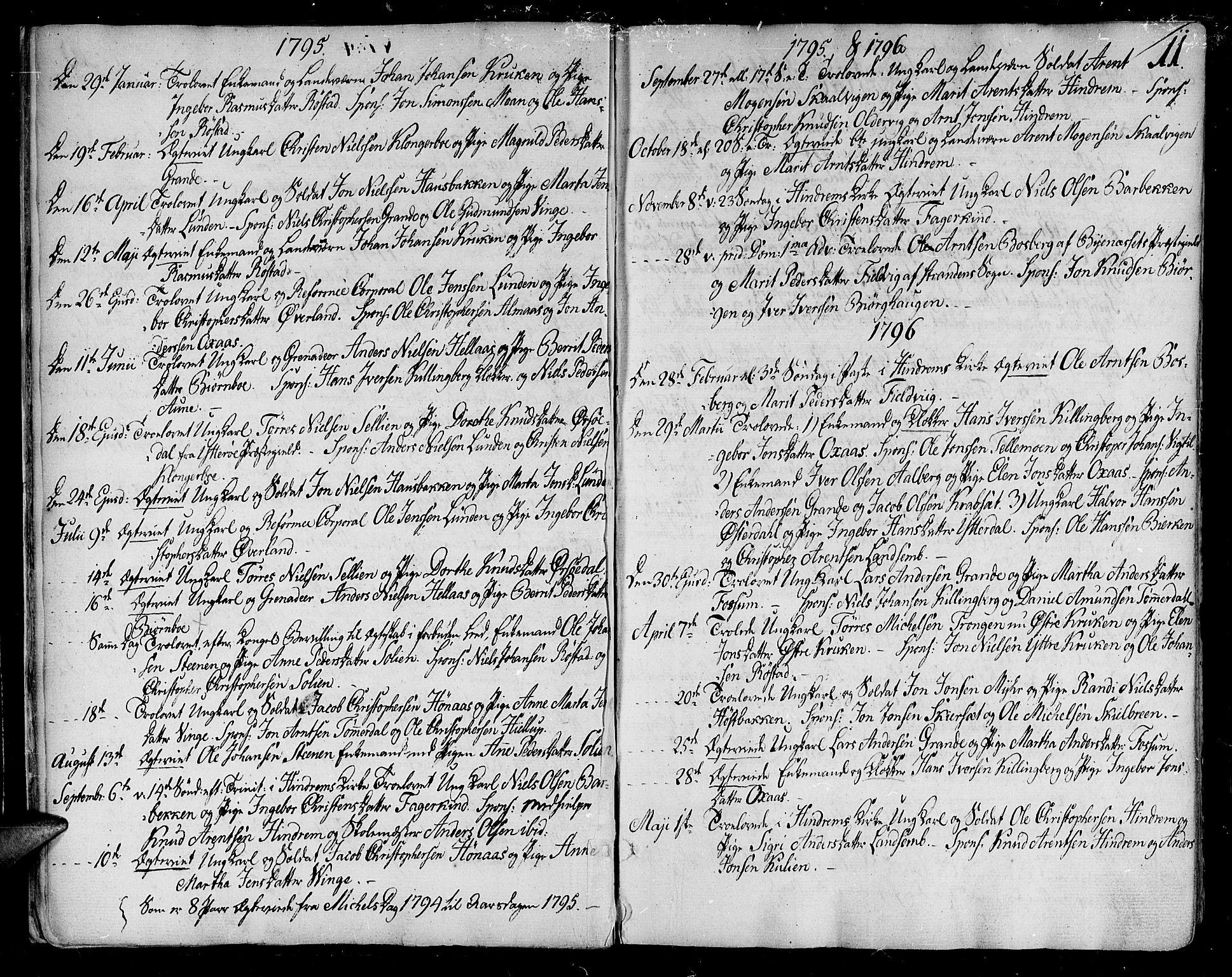 SAT, Ministerialprotokoller, klokkerbøker og fødselsregistre - Nord-Trøndelag, 701/L0004: Ministerialbok nr. 701A04, 1783-1816, s. 11