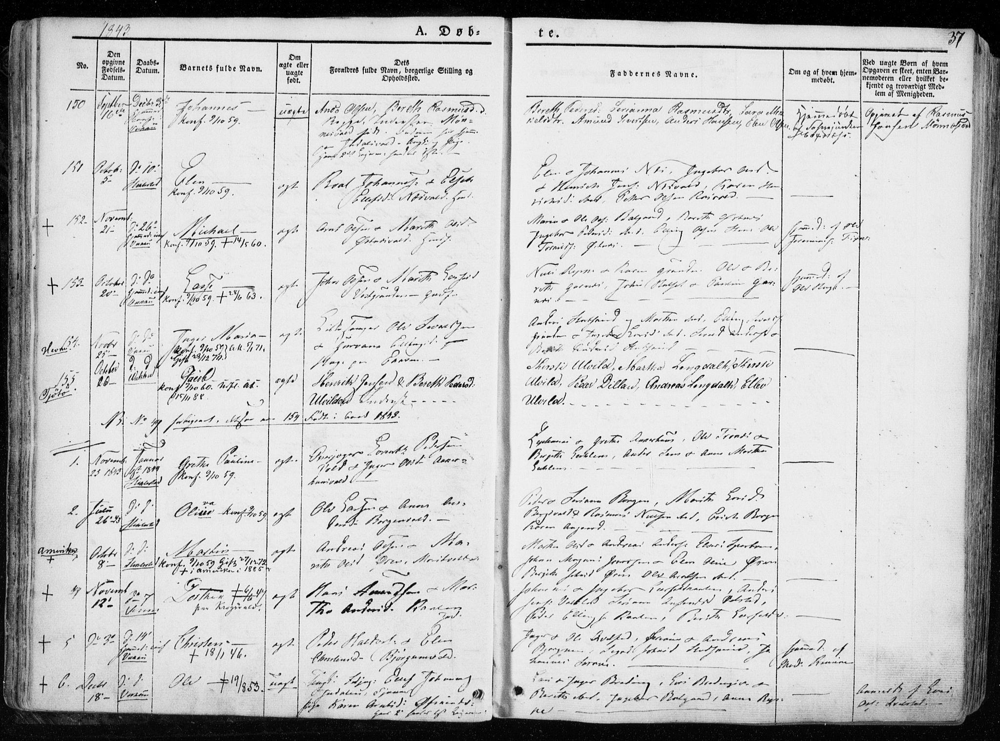 SAT, Ministerialprotokoller, klokkerbøker og fødselsregistre - Nord-Trøndelag, 723/L0239: Ministerialbok nr. 723A08, 1841-1851, s. 37