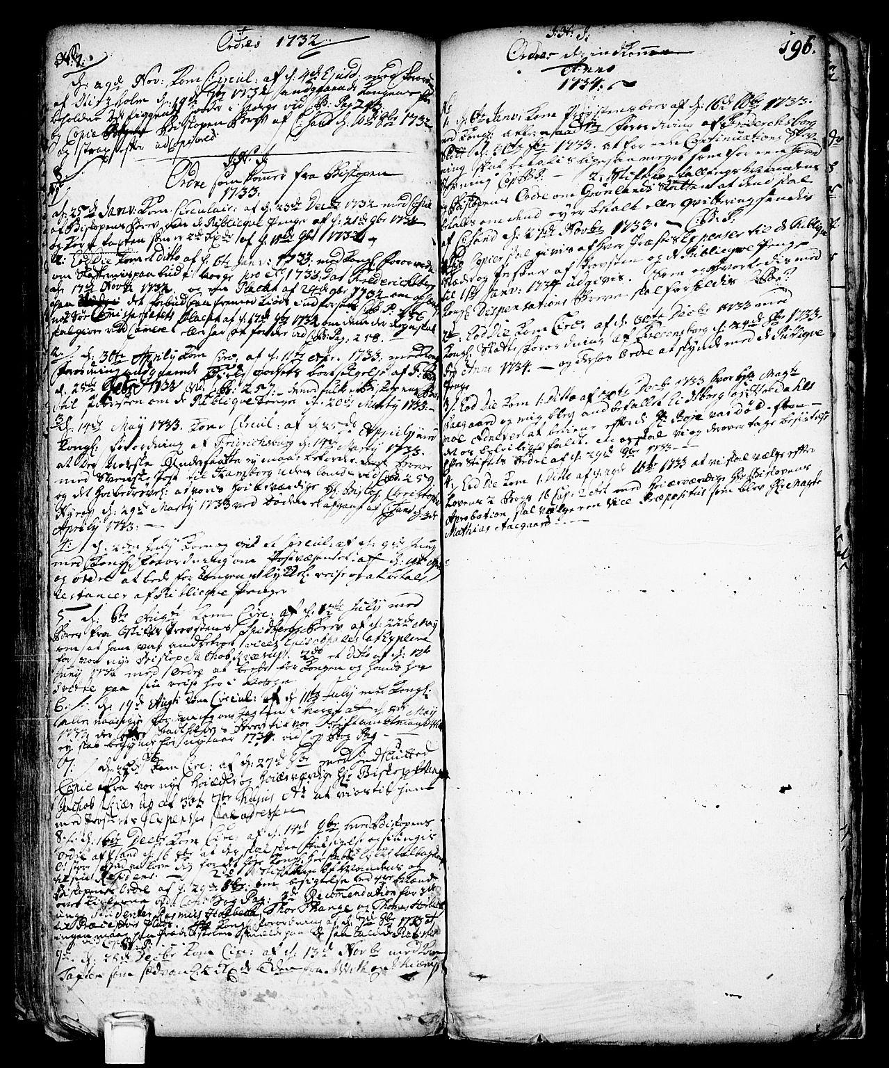 SAKO, Vinje kirkebøker, F/Fa/L0001: Ministerialbok nr. I 1, 1717-1766, s. 196