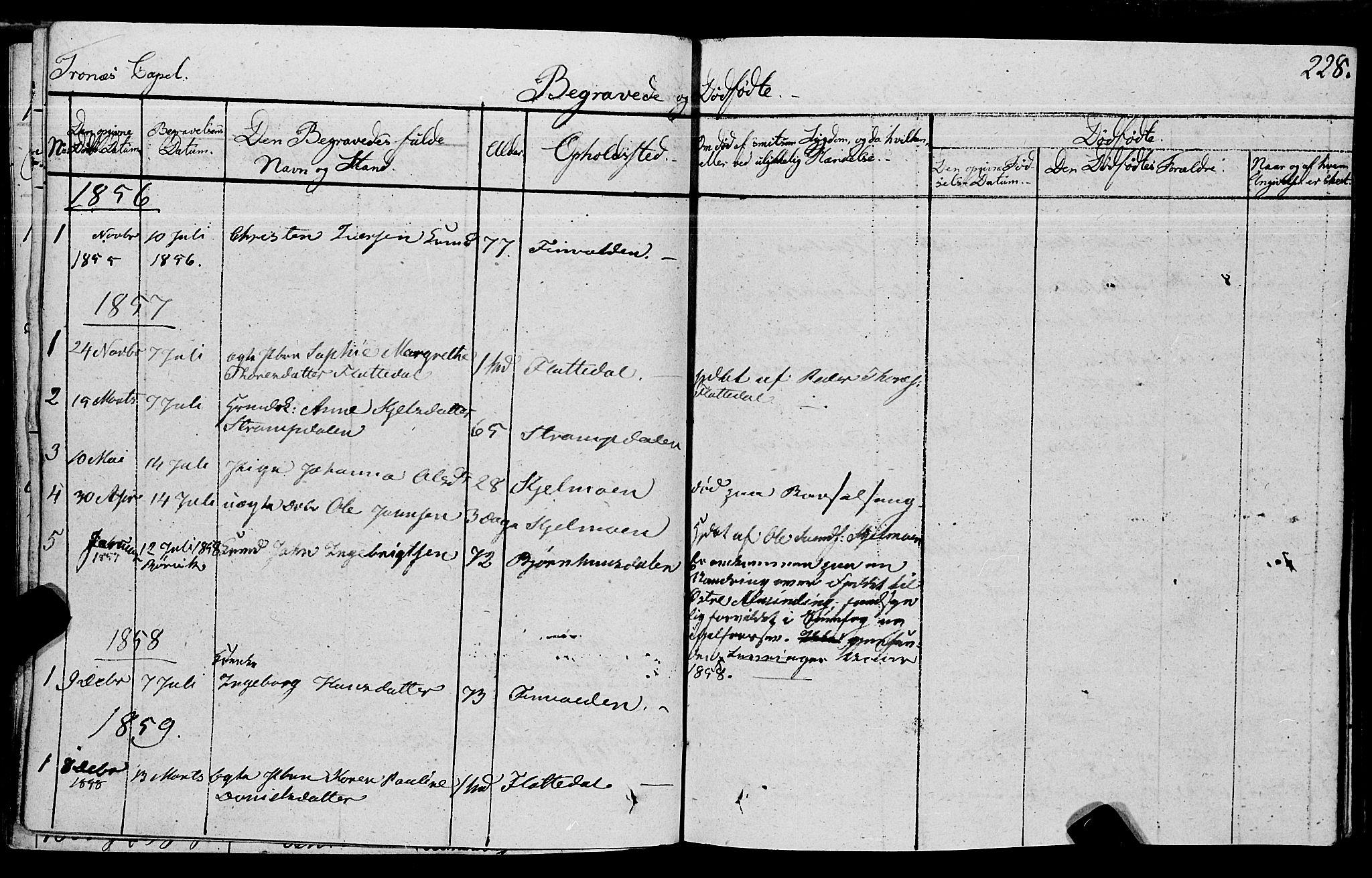 SAT, Ministerialprotokoller, klokkerbøker og fødselsregistre - Nord-Trøndelag, 762/L0538: Ministerialbok nr. 762A02 /2, 1833-1879, s. 228