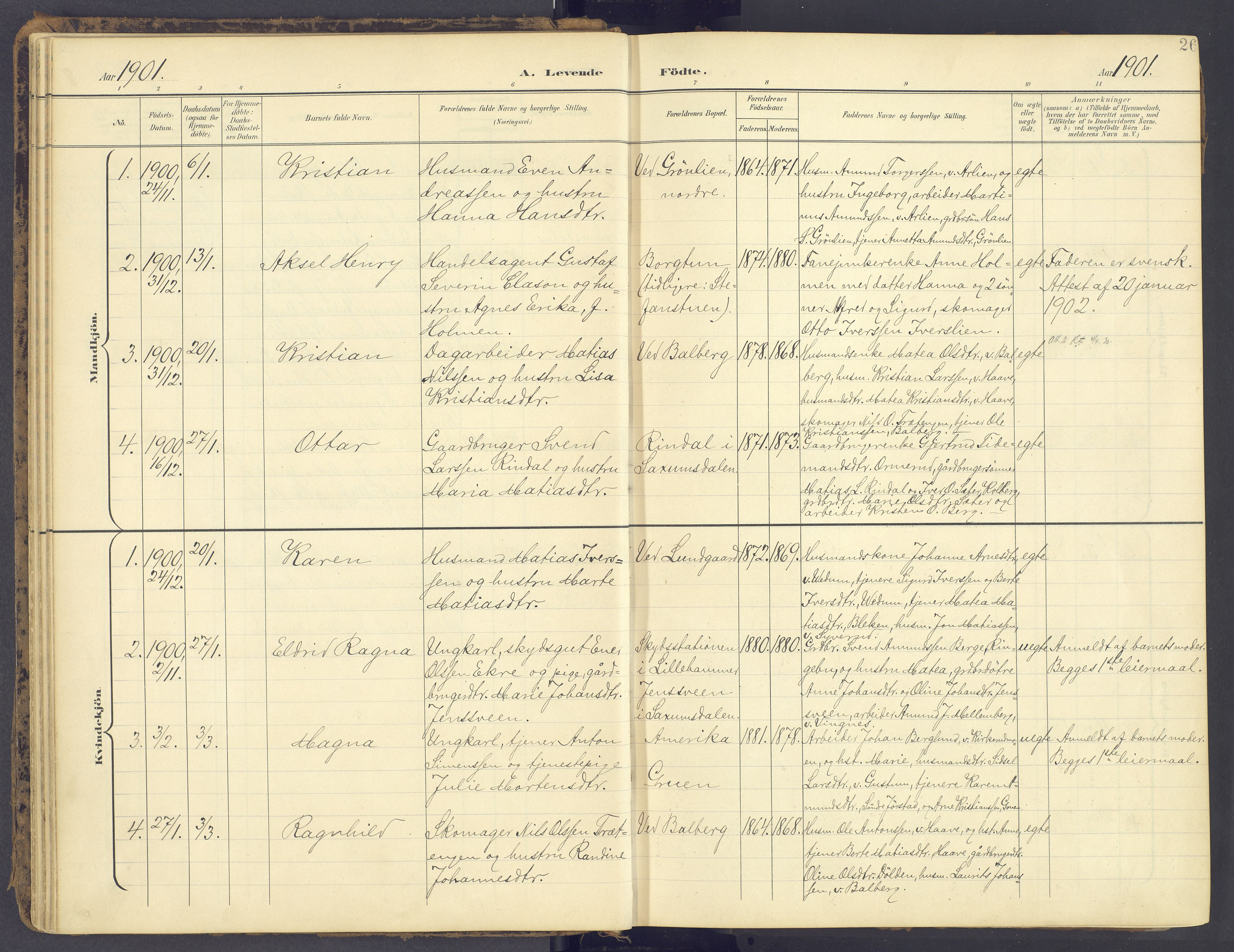 SAH, Fåberg prestekontor, Ministerialbok nr. 12, 1899-1915, s. 26