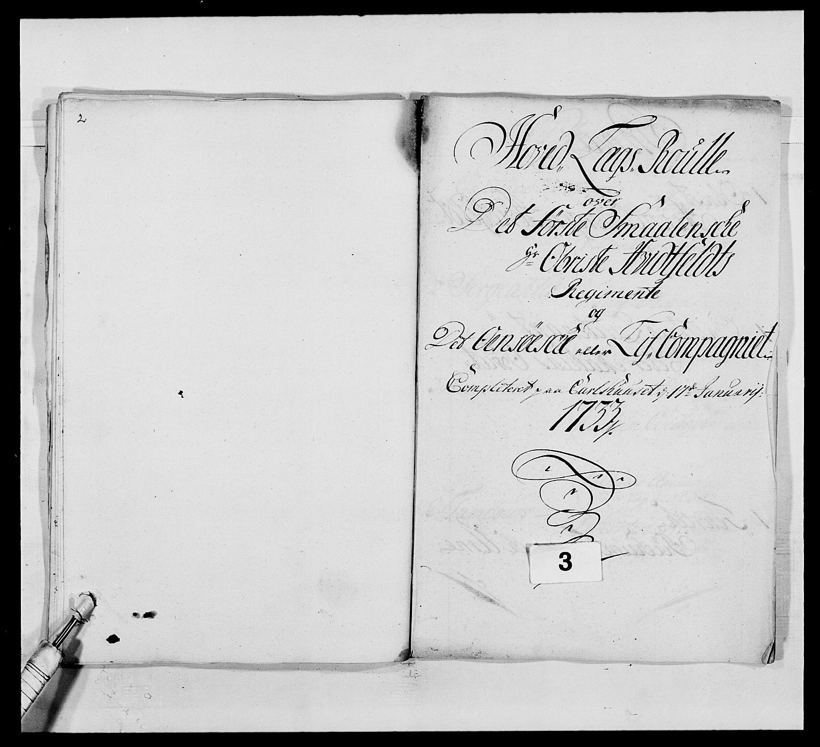 RA, Kommanderende general (KG I) med Det norske krigsdirektorium, E/Ea/L0495: 1. Smålenske regiment, 1732-1763, s. 33