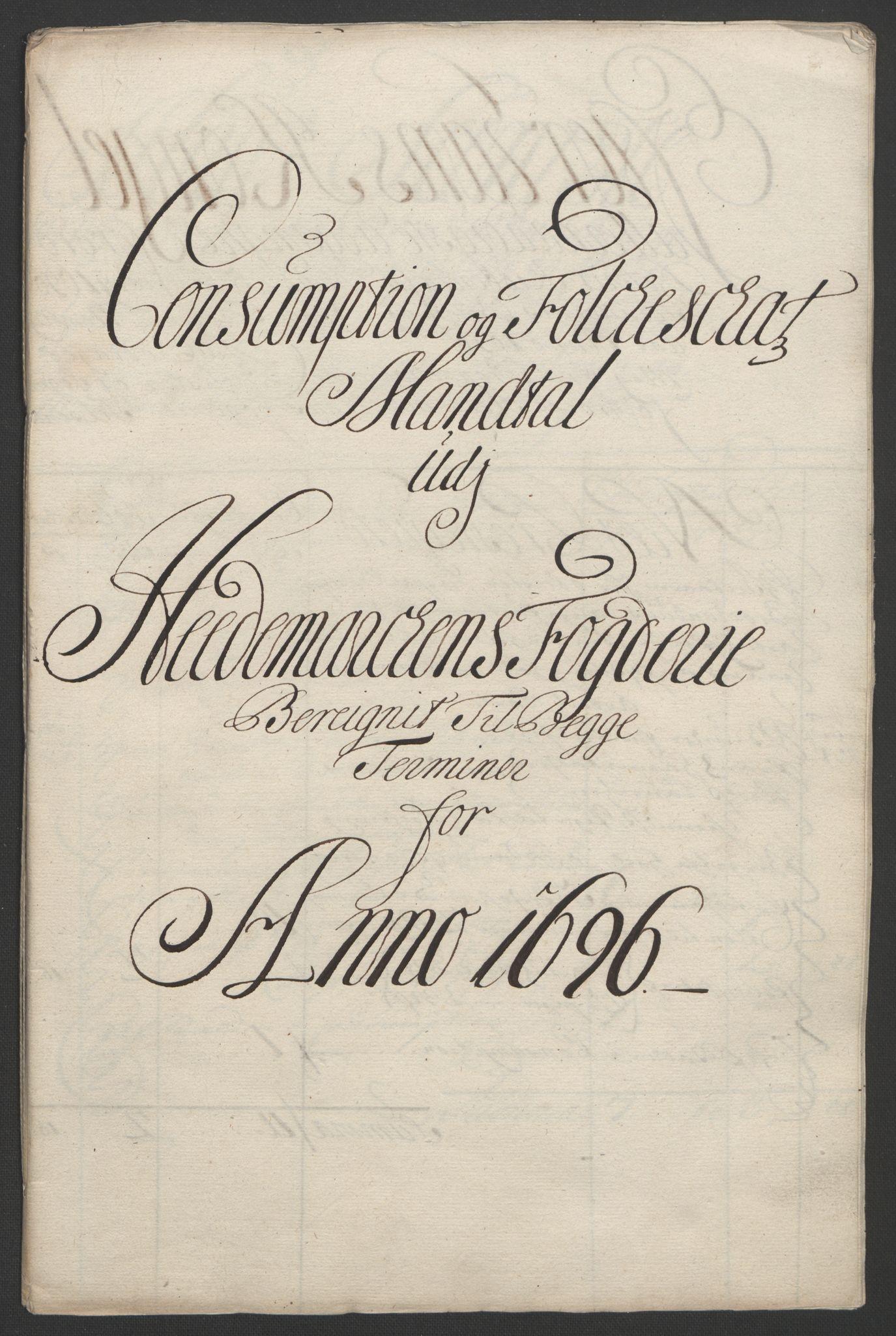 RA, Rentekammeret inntil 1814, Reviderte regnskaper, Fogderegnskap, R16/L1036: Fogderegnskap Hedmark, 1695-1696, s. 353
