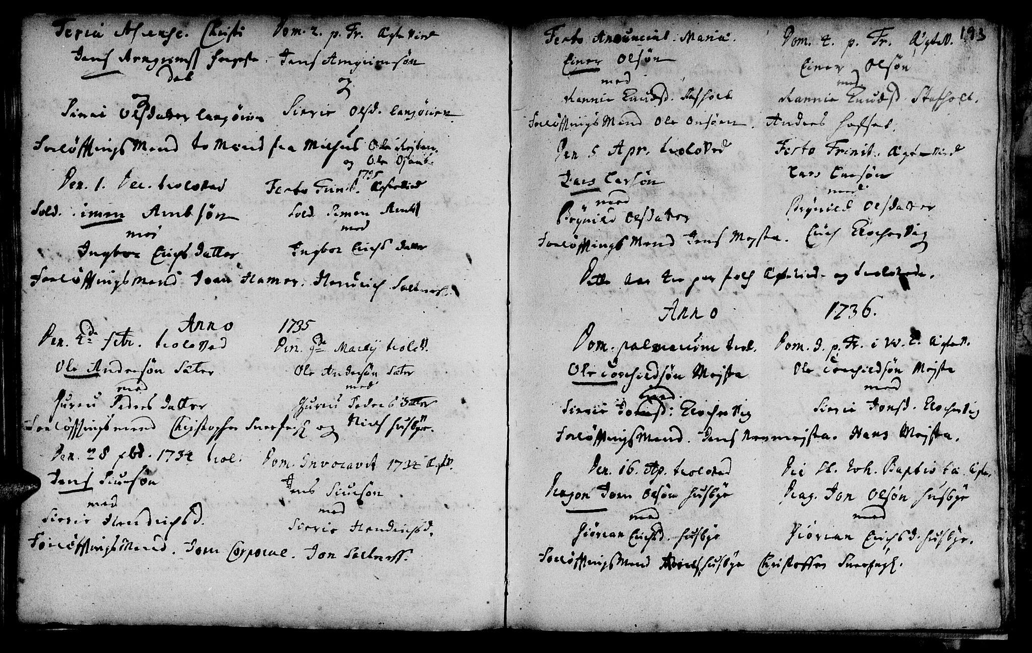 SAT, Ministerialprotokoller, klokkerbøker og fødselsregistre - Sør-Trøndelag, 666/L0783: Ministerialbok nr. 666A01, 1702-1753, s. 193
