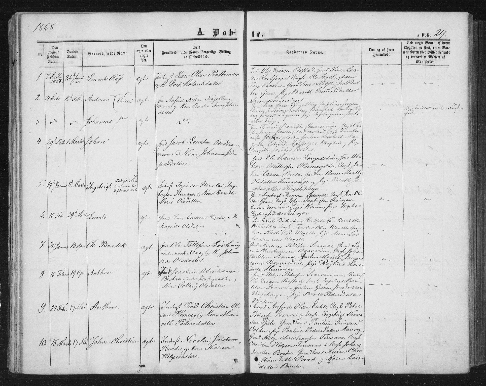 SAT, Ministerialprotokoller, klokkerbøker og fødselsregistre - Nord-Trøndelag, 749/L0472: Ministerialbok nr. 749A06, 1857-1873, s. 29