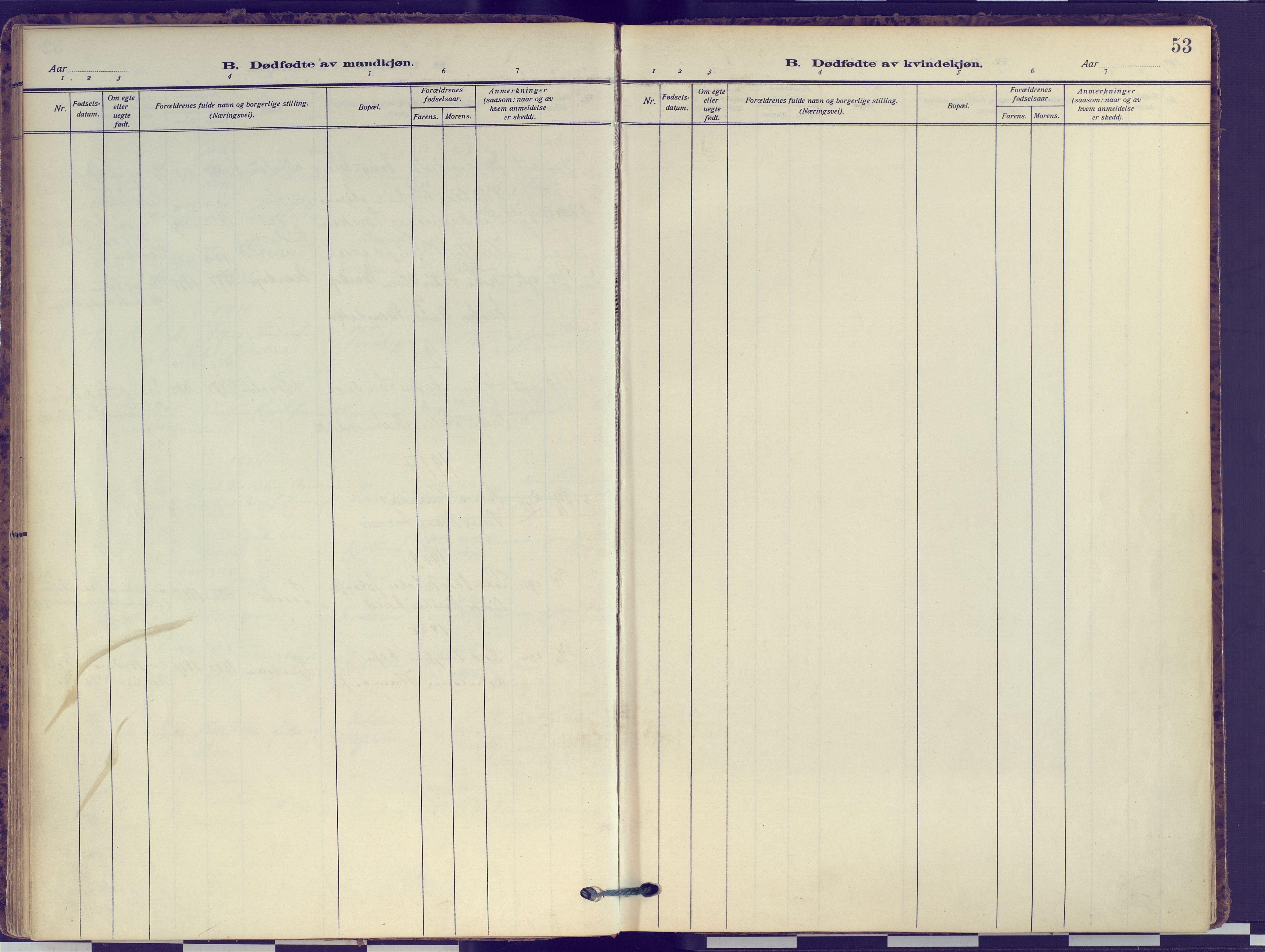 SATØ, Hammerfest sokneprestembete, Ministerialbok nr. 16, 1908-1923, s. 53