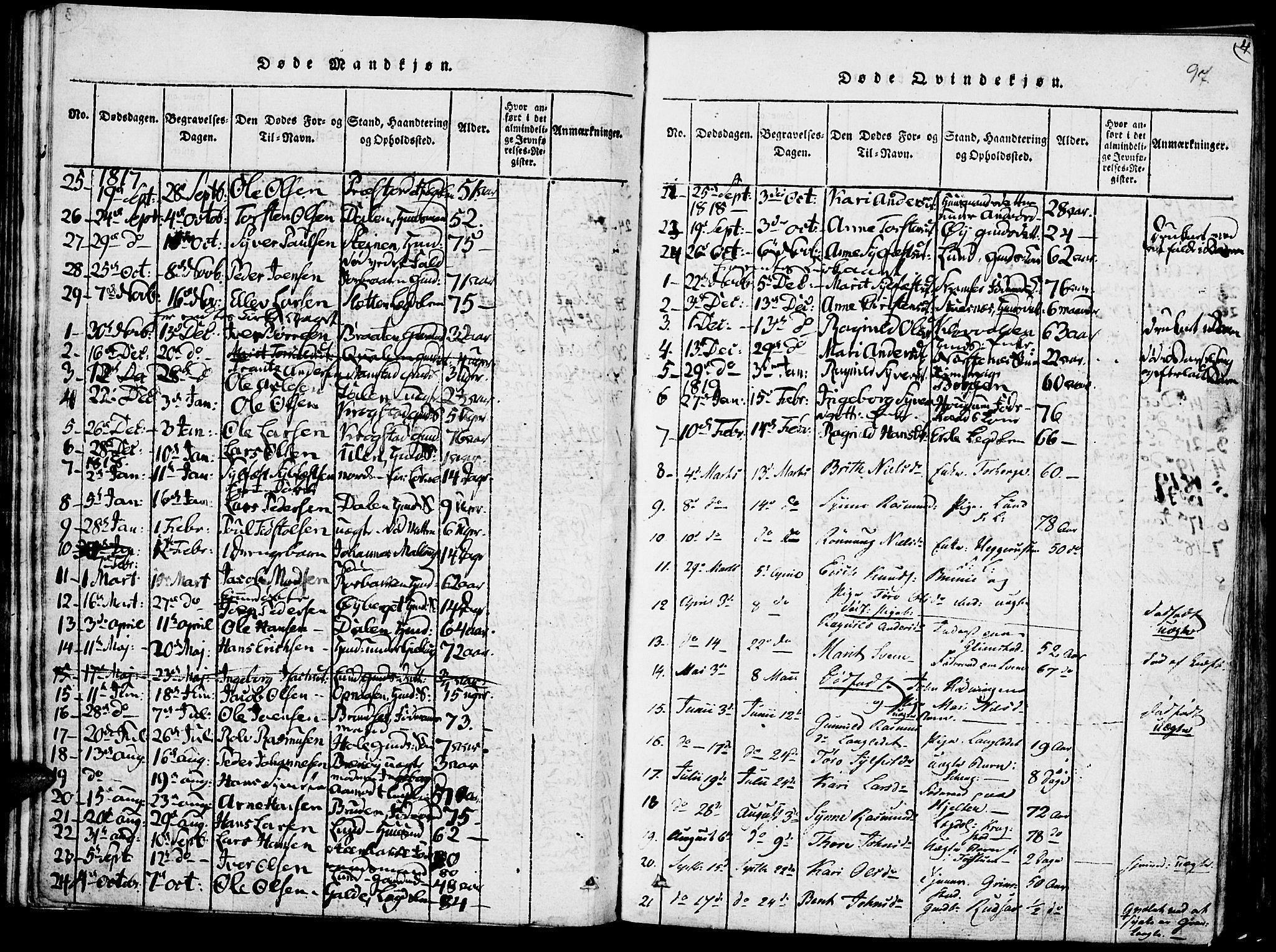 SAH, Lom prestekontor, K/L0004: Ministerialbok nr. 4, 1815-1825, s. 97
