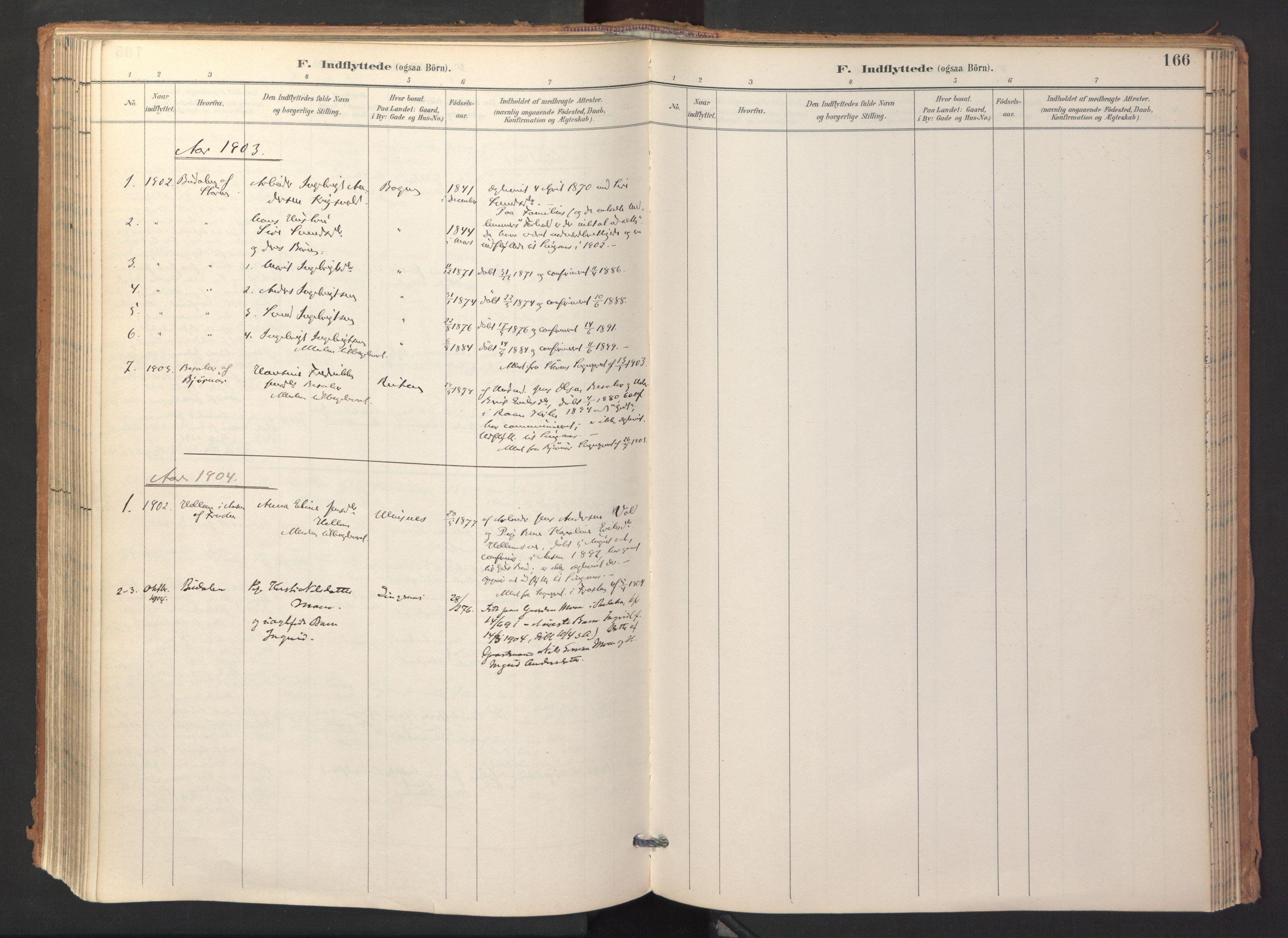 SAT, Ministerialprotokoller, klokkerbøker og fødselsregistre - Sør-Trøndelag, 688/L1025: Ministerialbok nr. 688A02, 1891-1909, s. 166