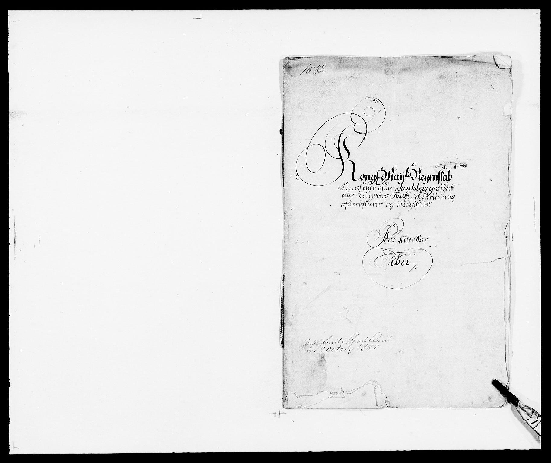 RA, Rentekammeret inntil 1814, Reviderte regnskaper, Fogderegnskap, R32/L1851: Fogderegnskap Jarlsberg grevskap, 1682, s. 1