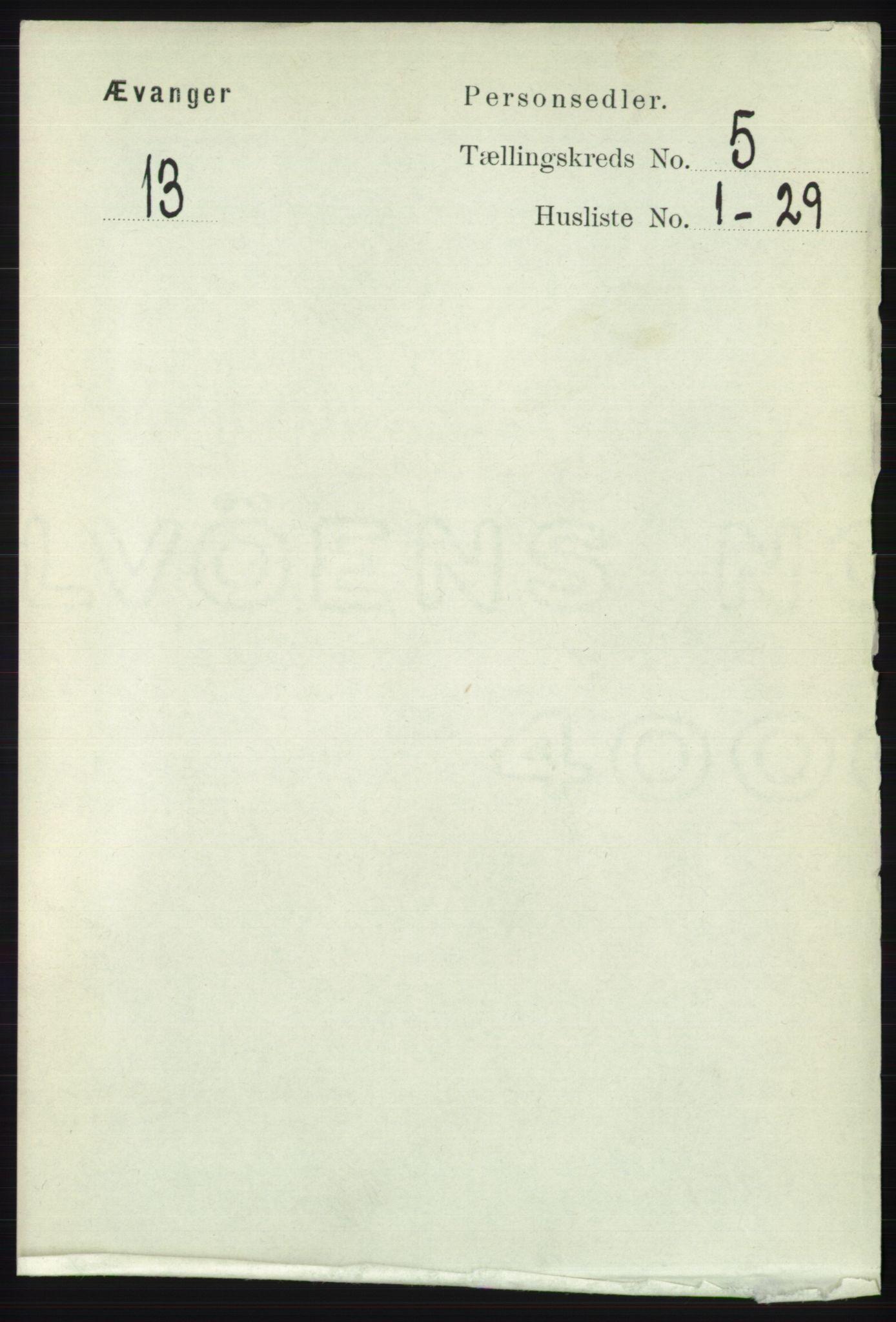 RA, Folketelling 1891 for 1237 Evanger herred, 1891, s. 1388