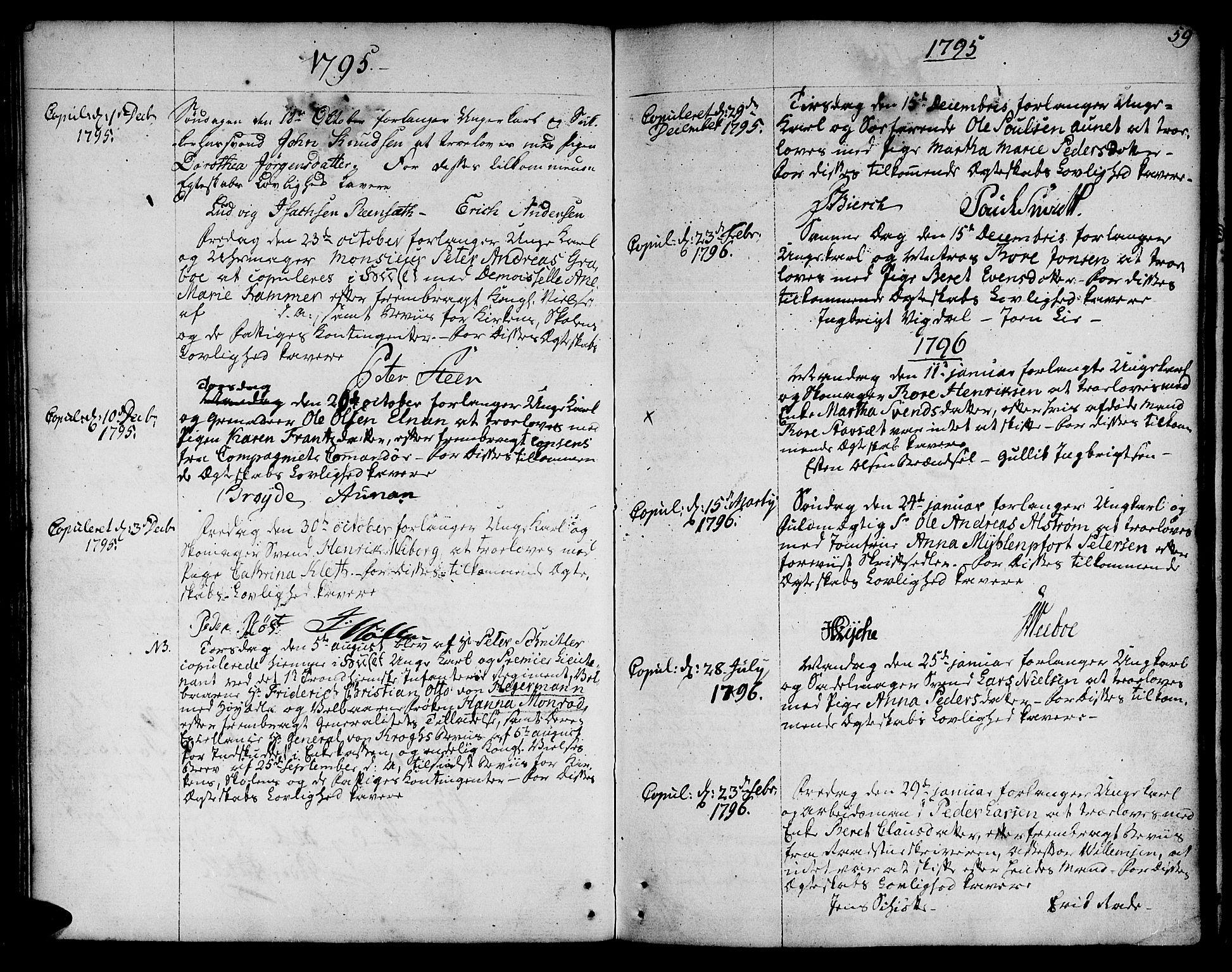 SAT, Ministerialprotokoller, klokkerbøker og fødselsregistre - Sør-Trøndelag, 601/L0041: Ministerialbok nr. 601A09, 1784-1801, s. 59
