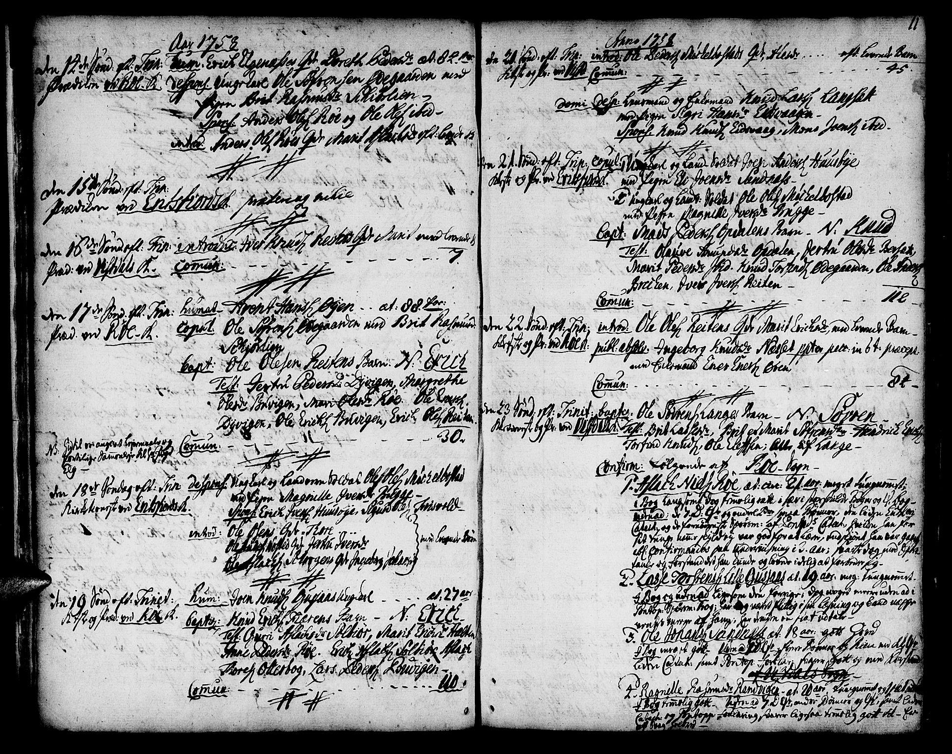 SAT, Ministerialprotokoller, klokkerbøker og fødselsregistre - Møre og Romsdal, 551/L0621: Ministerialbok nr. 551A01, 1757-1803, s. 11
