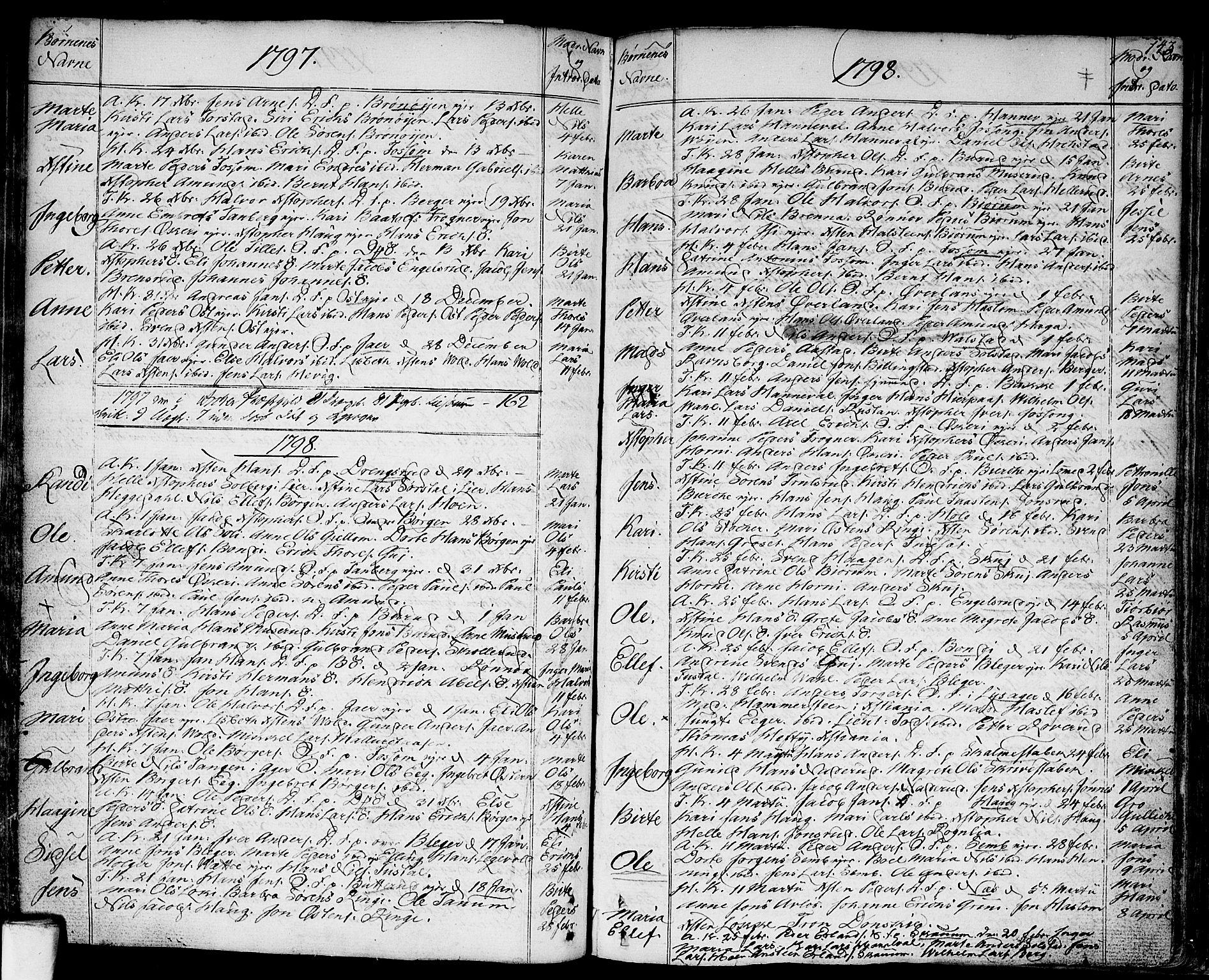 SAO, Asker prestekontor Kirkebøker, F/Fa/L0003: Ministerialbok nr. I 3, 1767-1807, s. 143