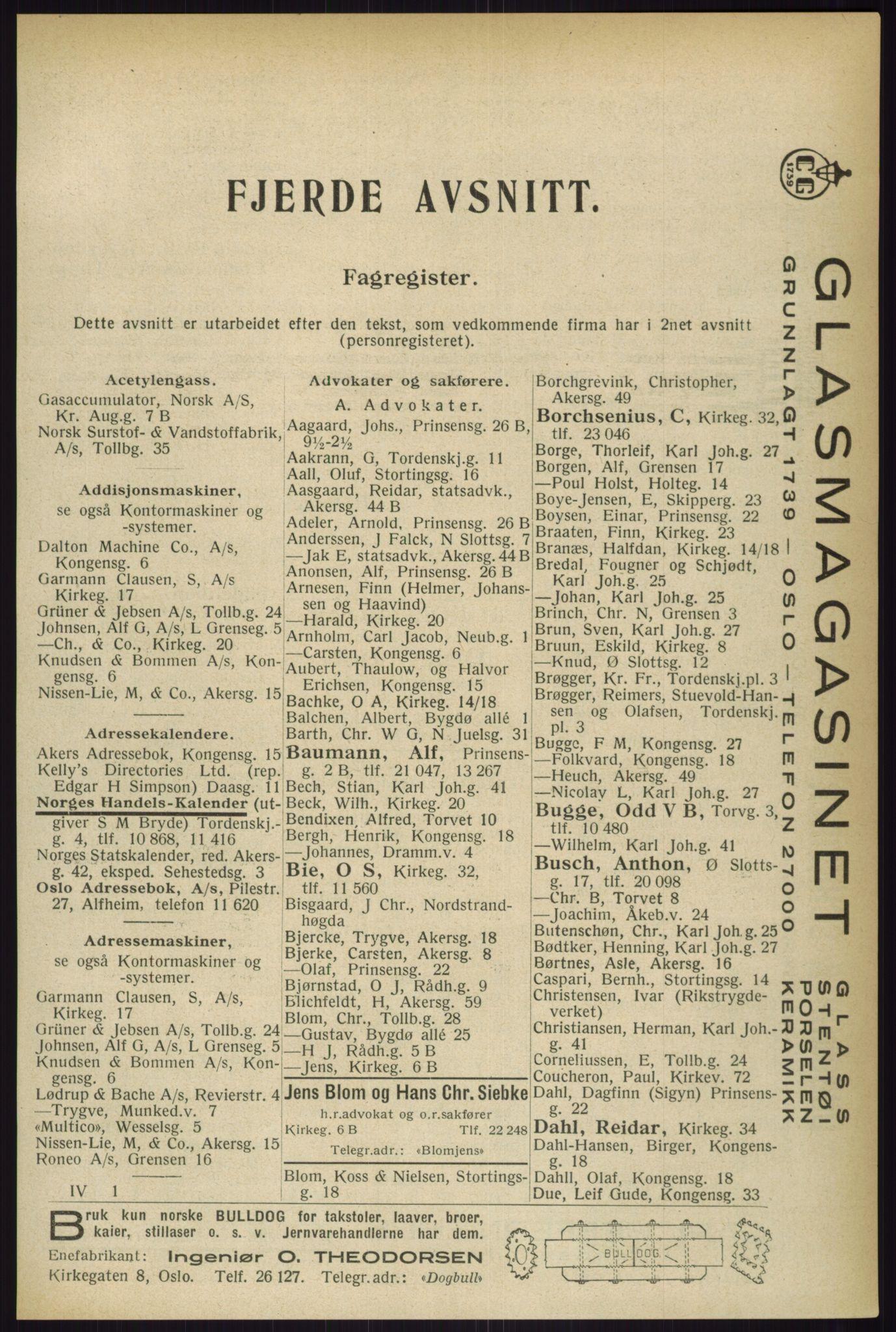PUBL, Kristiania/Oslo adressebok, 1933, s. 2125