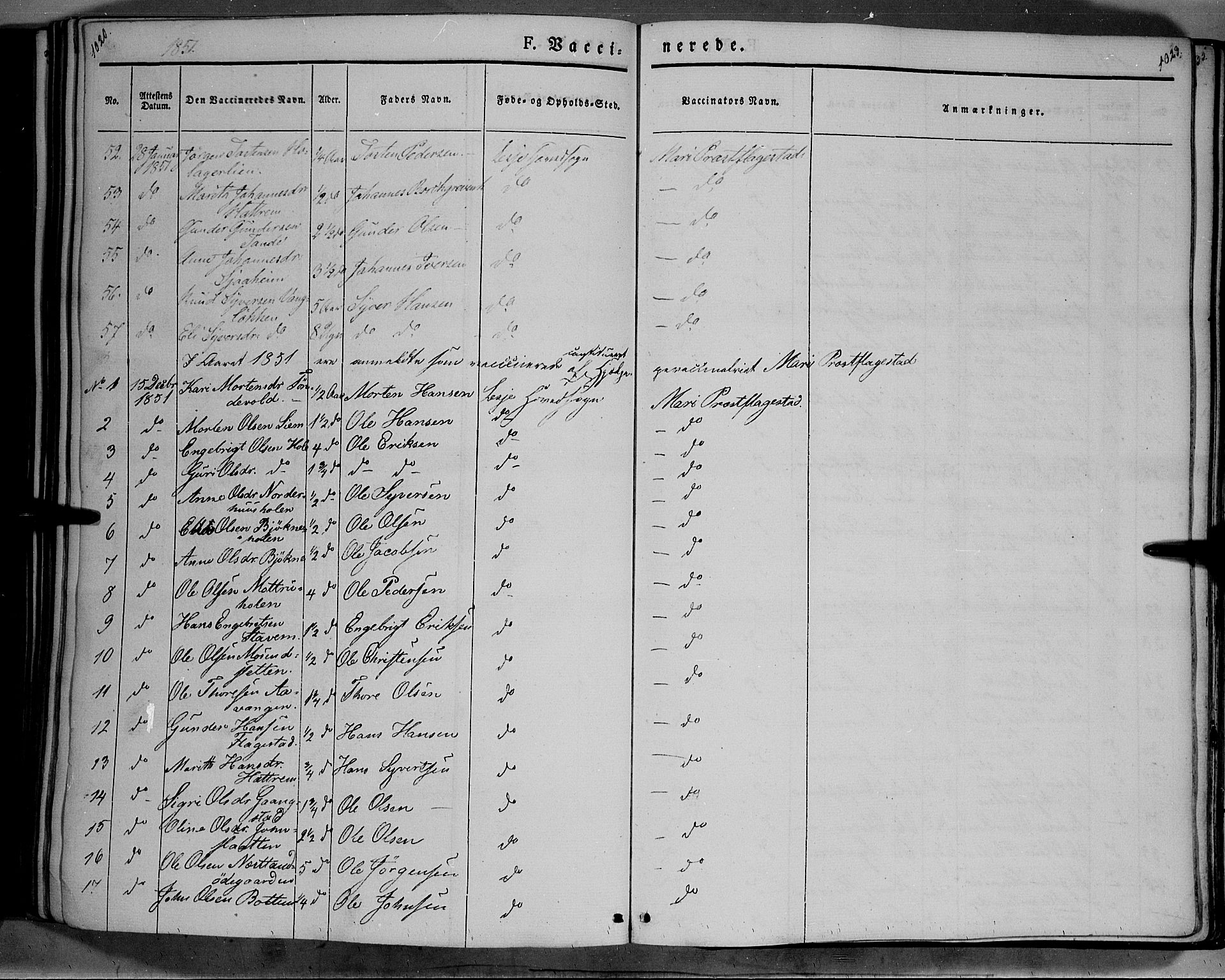 SAH, Lesja prestekontor, Ministerialbok nr. 6B, 1843-1854, s. 1022-1023