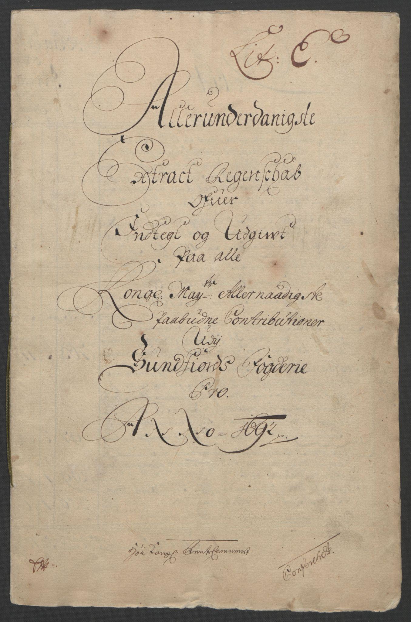 RA, Rentekammeret inntil 1814, Reviderte regnskaper, Fogderegnskap, R53/L3420: Fogderegnskap Sunn- og Nordfjord, 1691-1692, s. 171