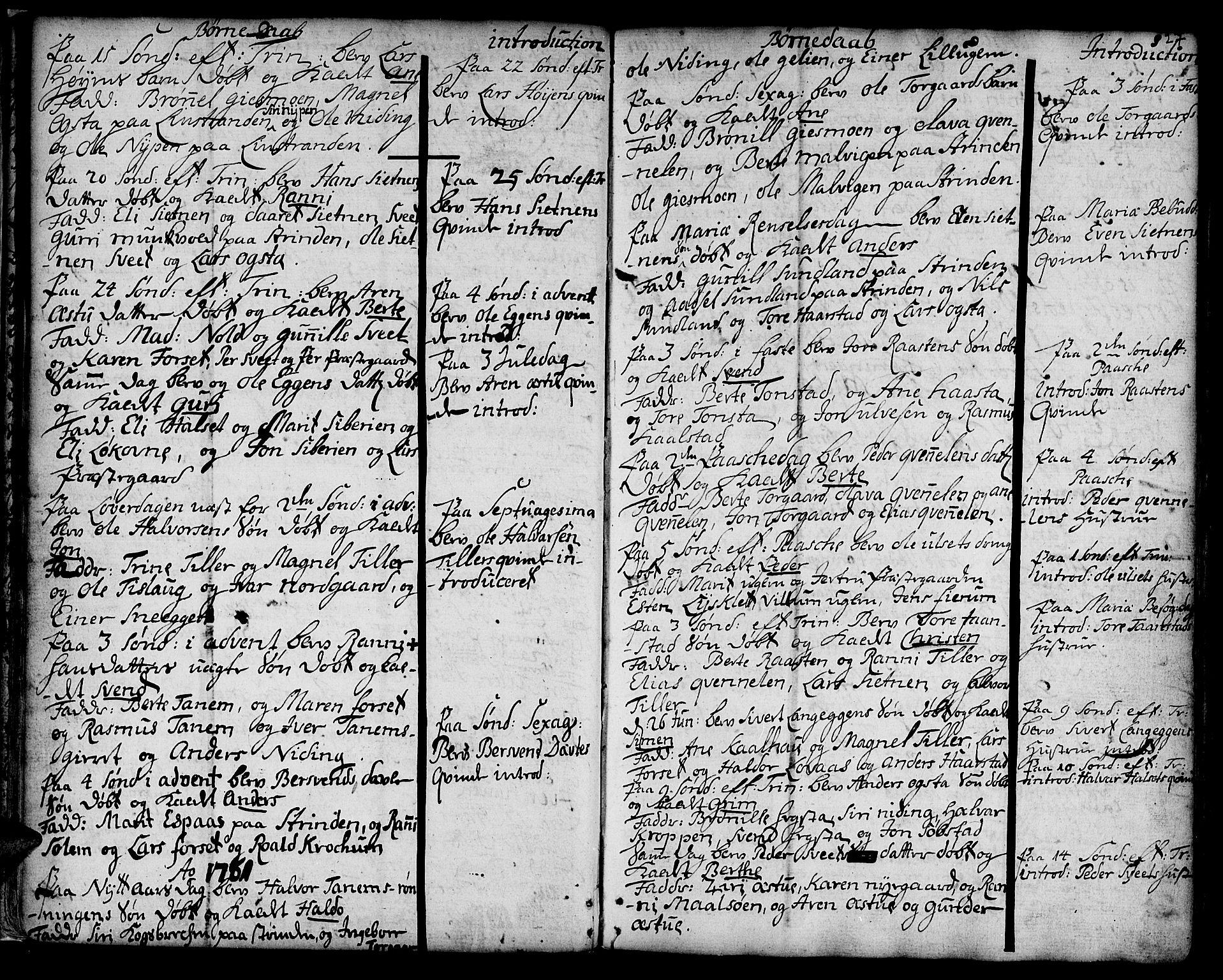 SAT, Ministerialprotokoller, klokkerbøker og fødselsregistre - Sør-Trøndelag, 618/L0437: Ministerialbok nr. 618A02, 1749-1782, s. 27