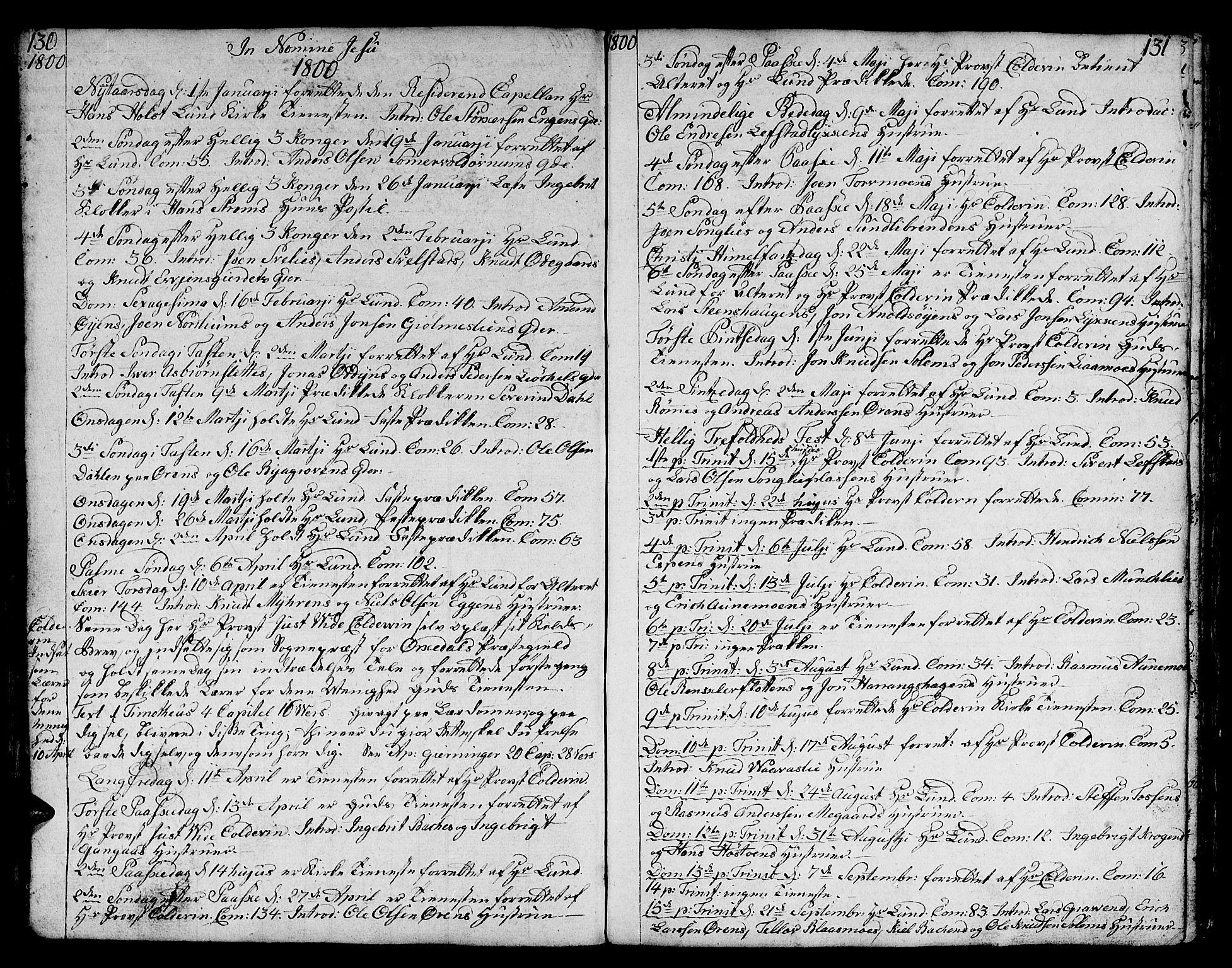 SAT, Ministerialprotokoller, klokkerbøker og fødselsregistre - Sør-Trøndelag, 668/L0815: Klokkerbok nr. 668C04, 1791-1815, s. 130-131